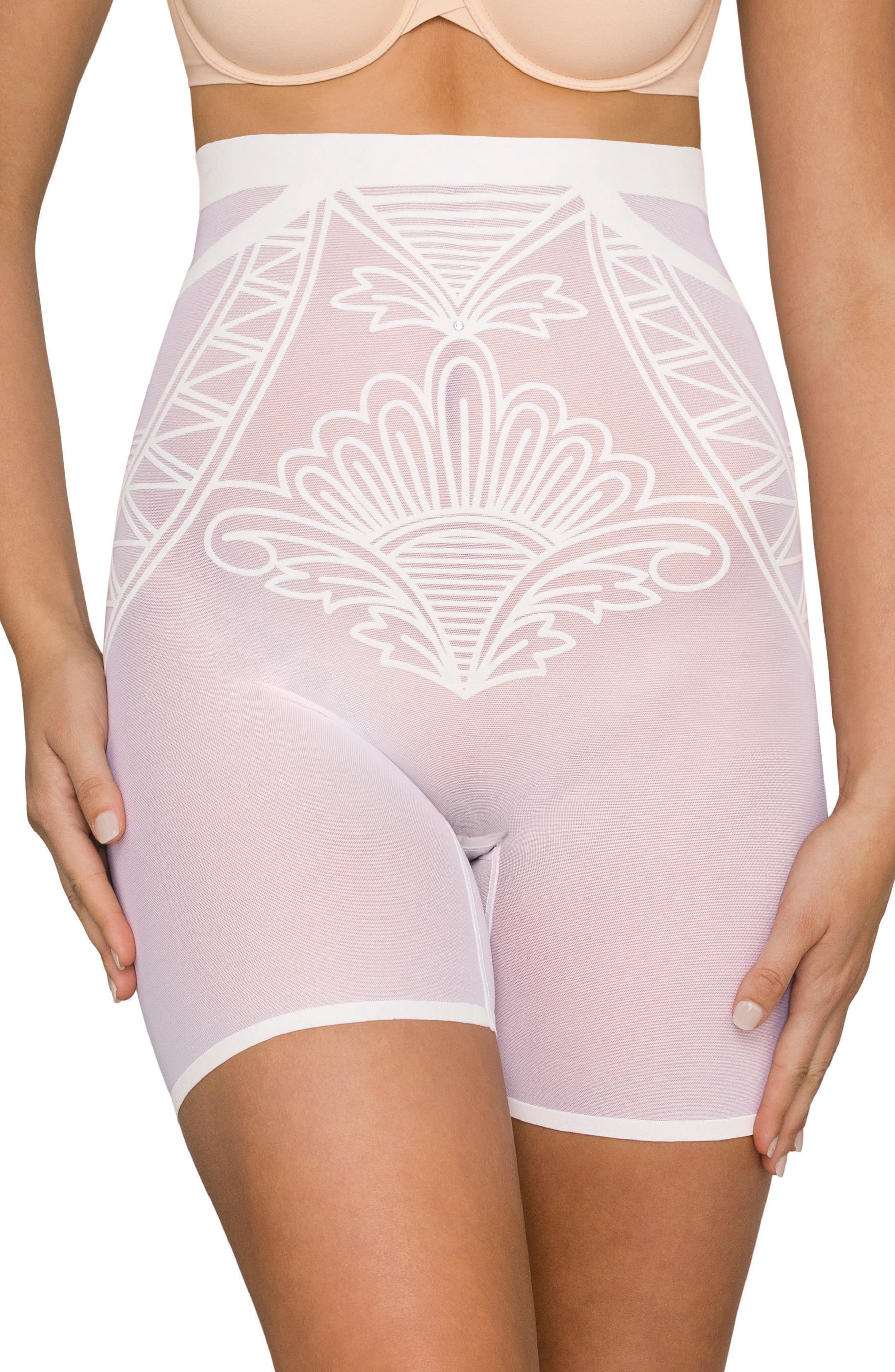 Enchanté High Waist Shaper Shorts,                             Main thumbnail 1, color,                             Frost