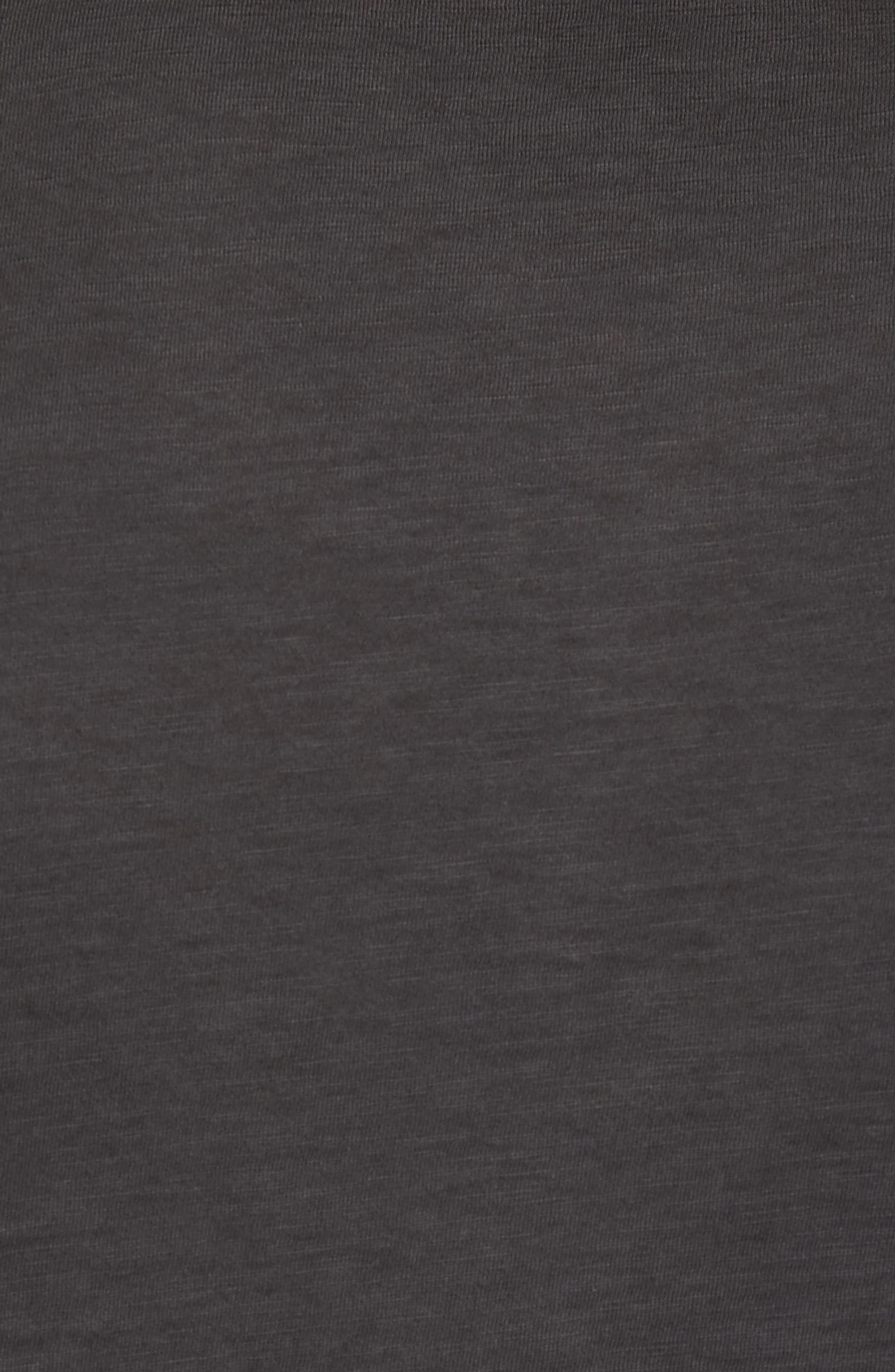 Sunwash Henley T-Shirt,                             Alternate thumbnail 5, color,                             Black