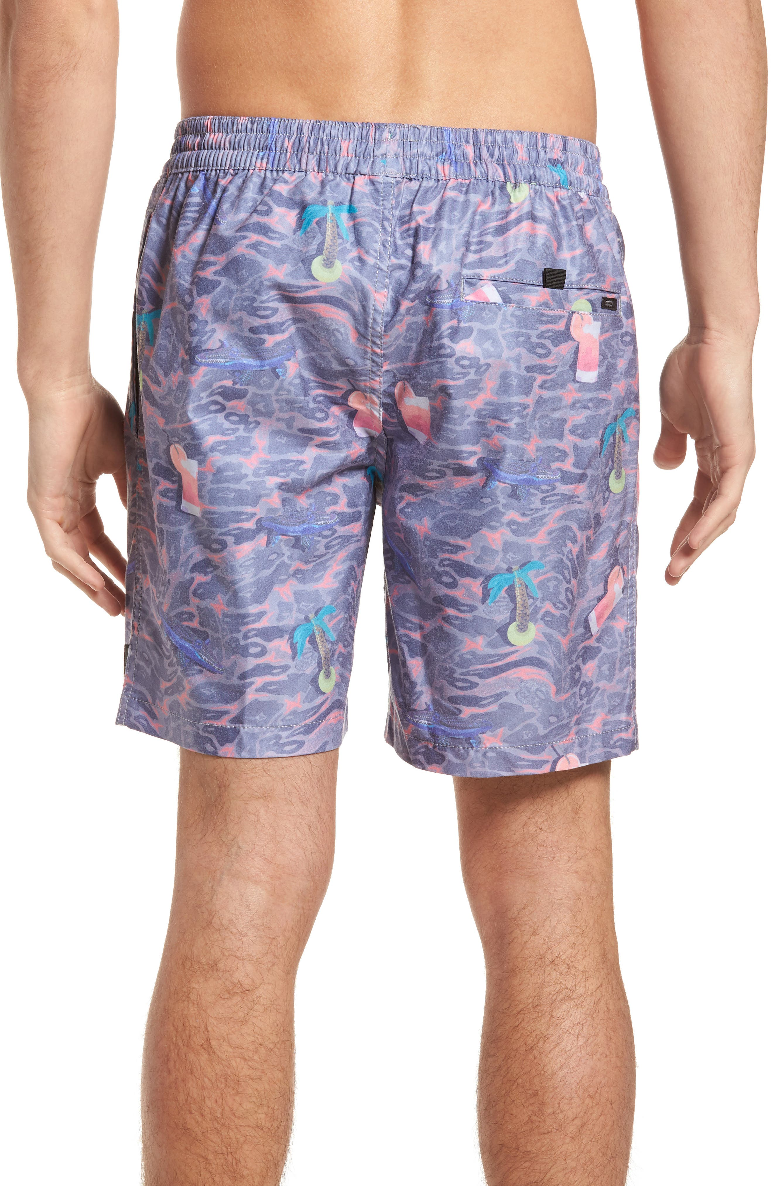 Deep End Pool Shorts,                             Alternate thumbnail 2, color,                             Dusty Coral