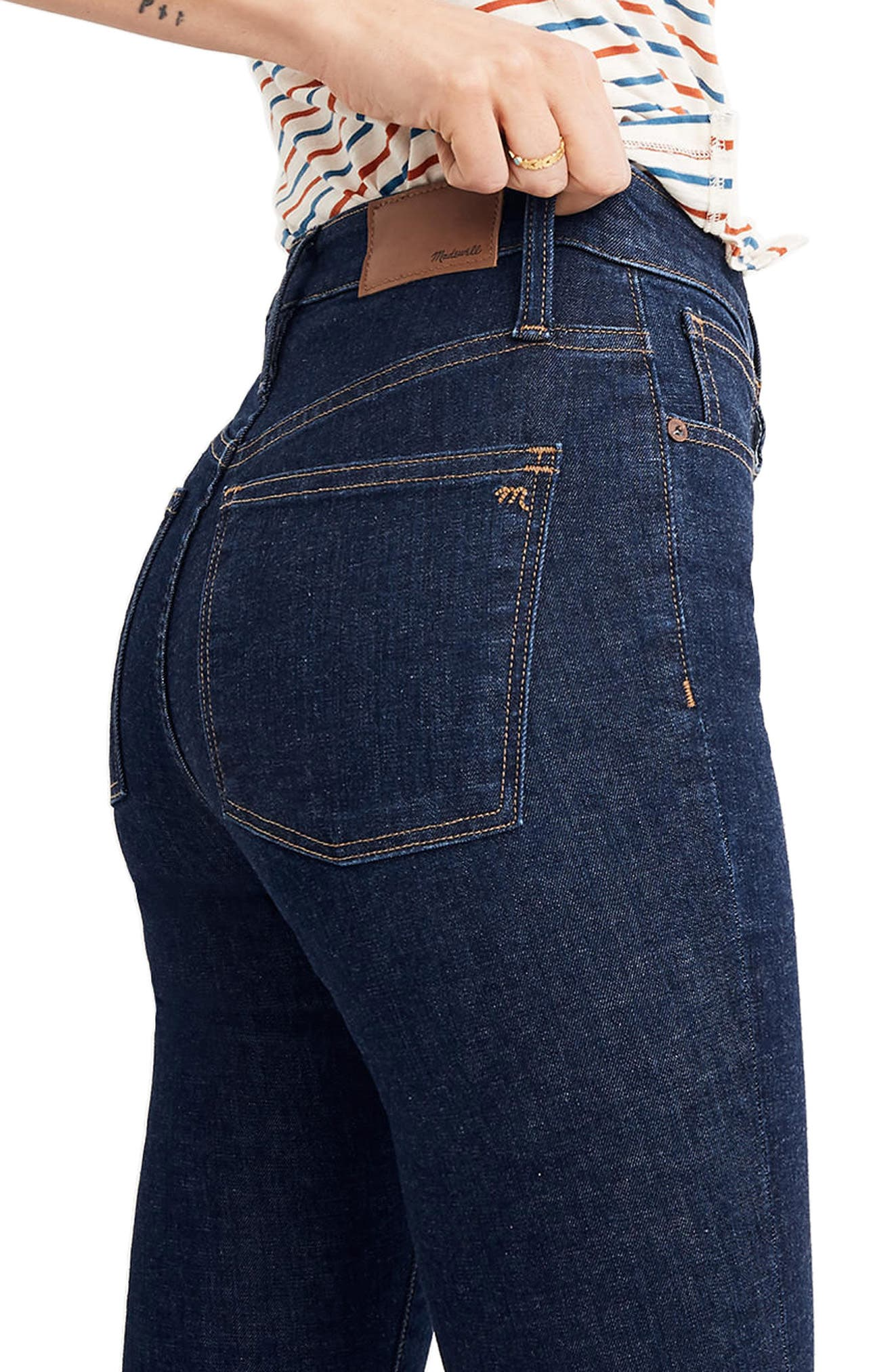 Curvy High Waist Skinny Jeans,                             Alternate thumbnail 4, color,                             Lucille Wash