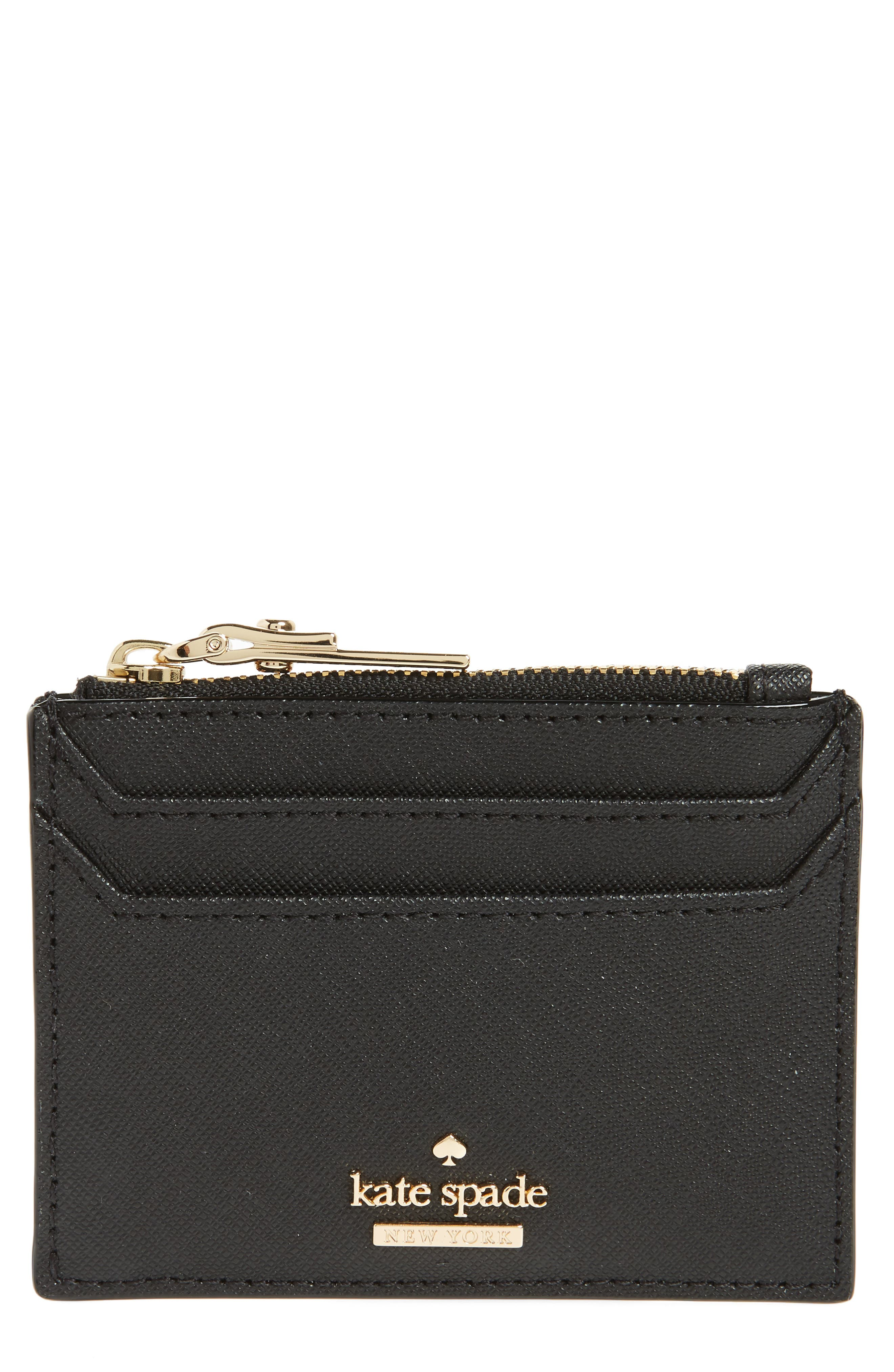 cameron street - lalena leather card case,                         Main,                         color, Black