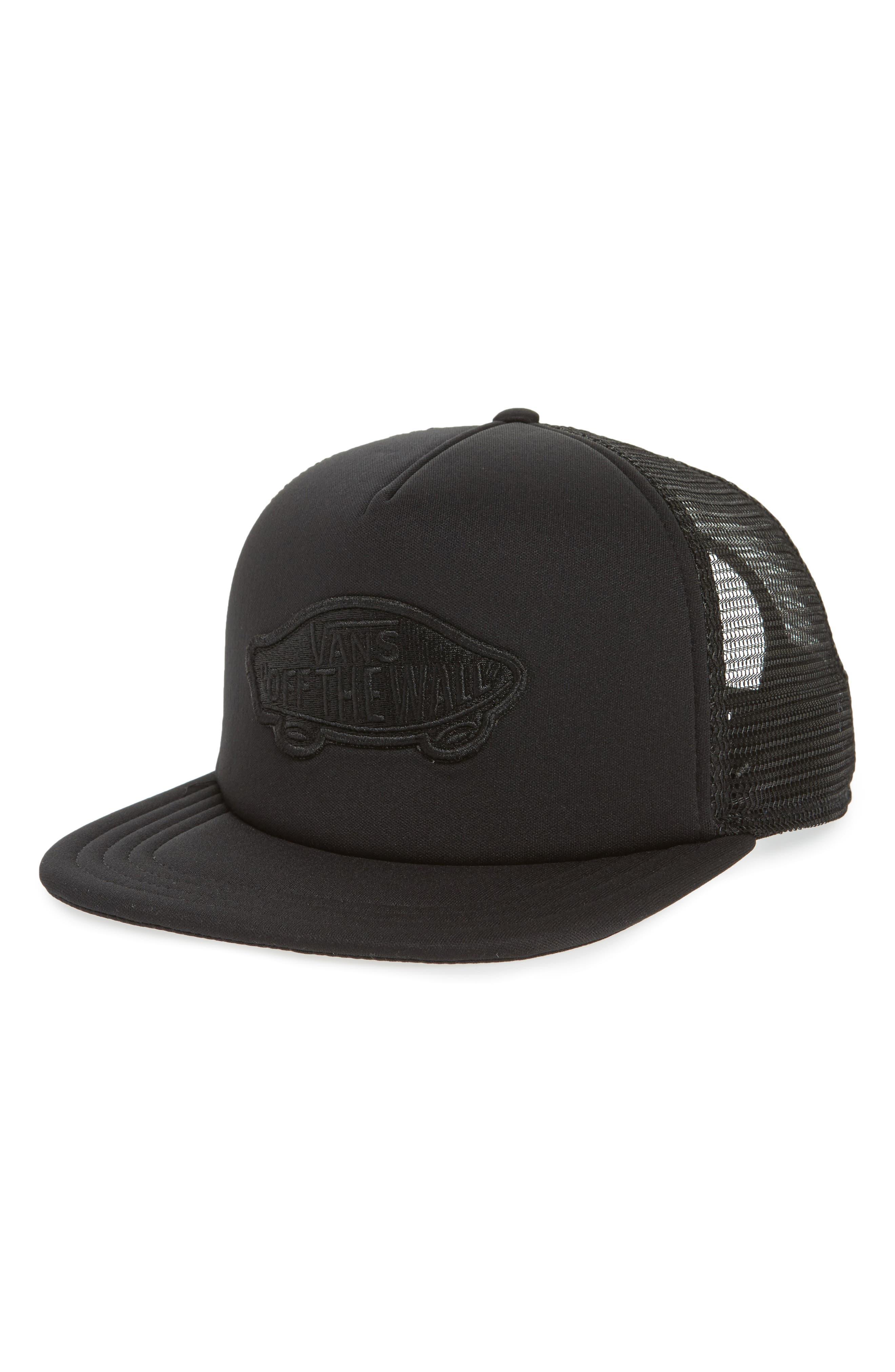 Classic Patch Trucker Hat,                         Main,                         color, Black