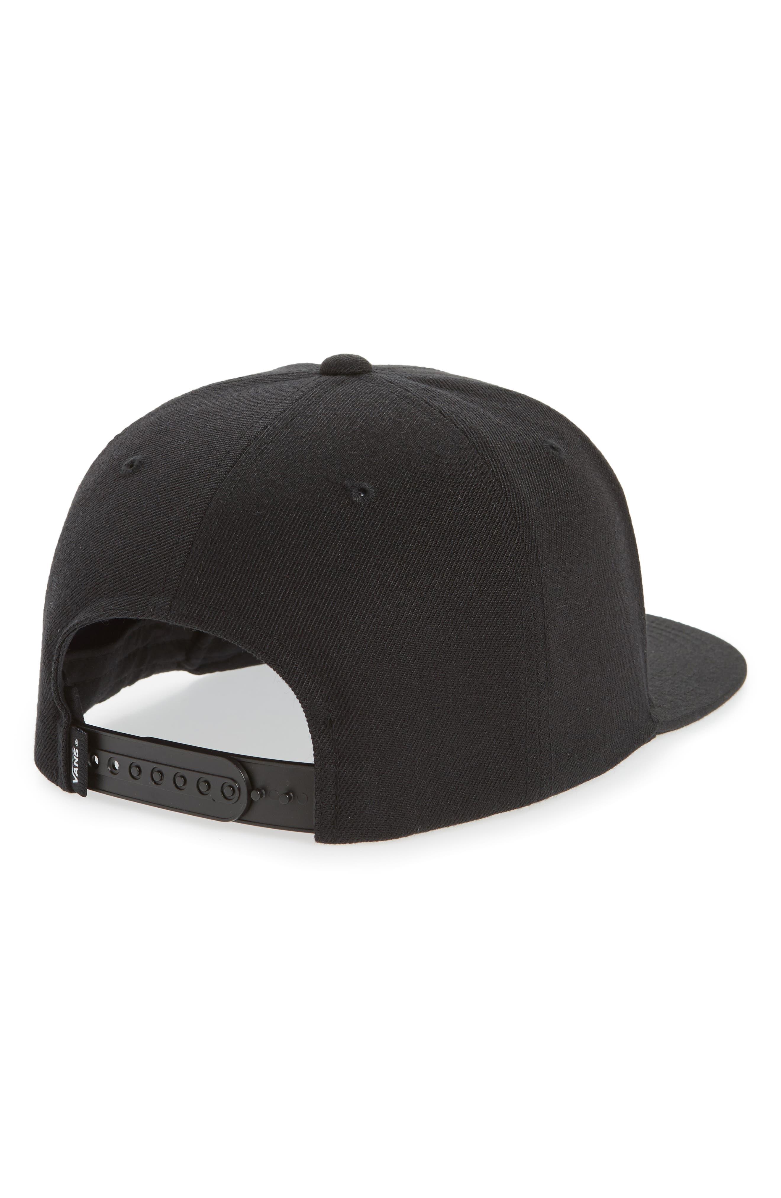 Drop V II Snapback Cap,                             Alternate thumbnail 2, color,                             Black/ White