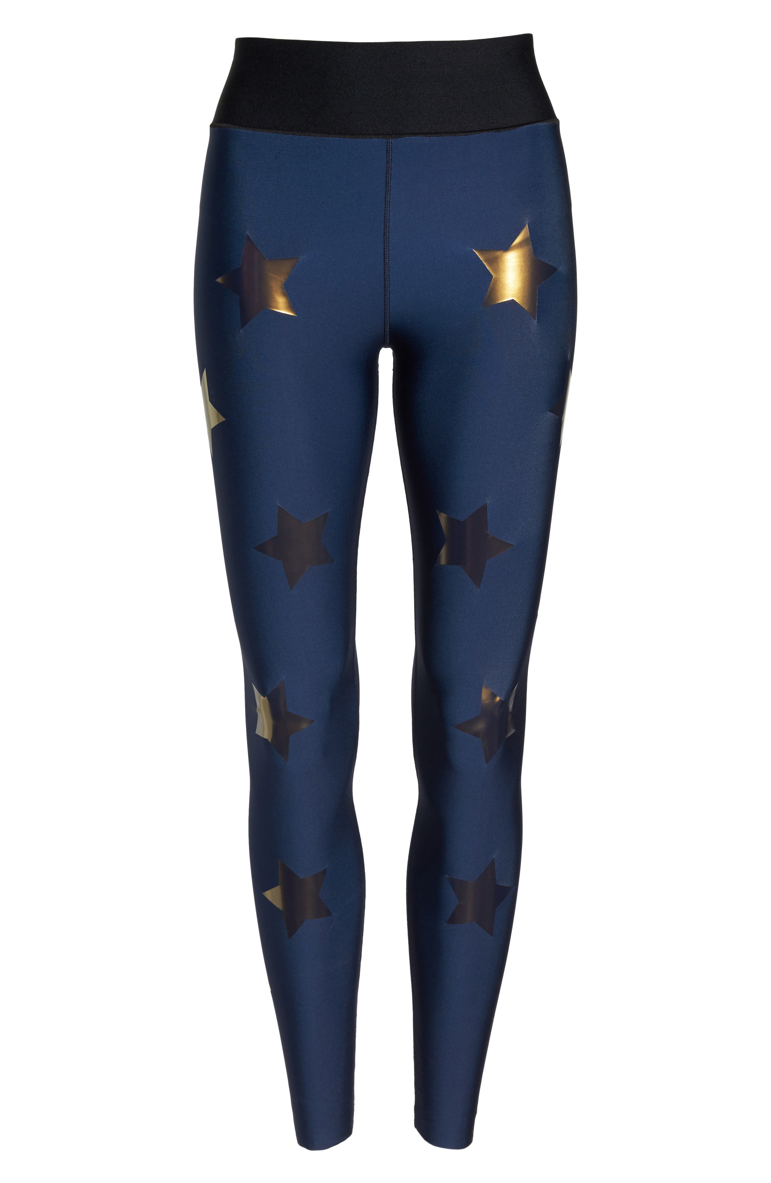 Lux Knockout Leggings,                             Alternate thumbnail 7, color,                             Obig - Oxford Blue Gold