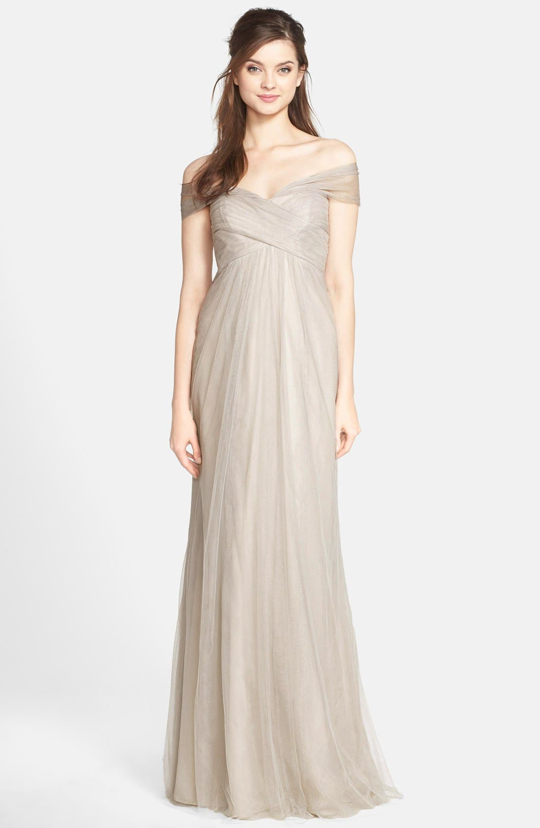 Alternate Image 1 Selected - Jenny Yoo 'Willow' Convertible Tulle Gown