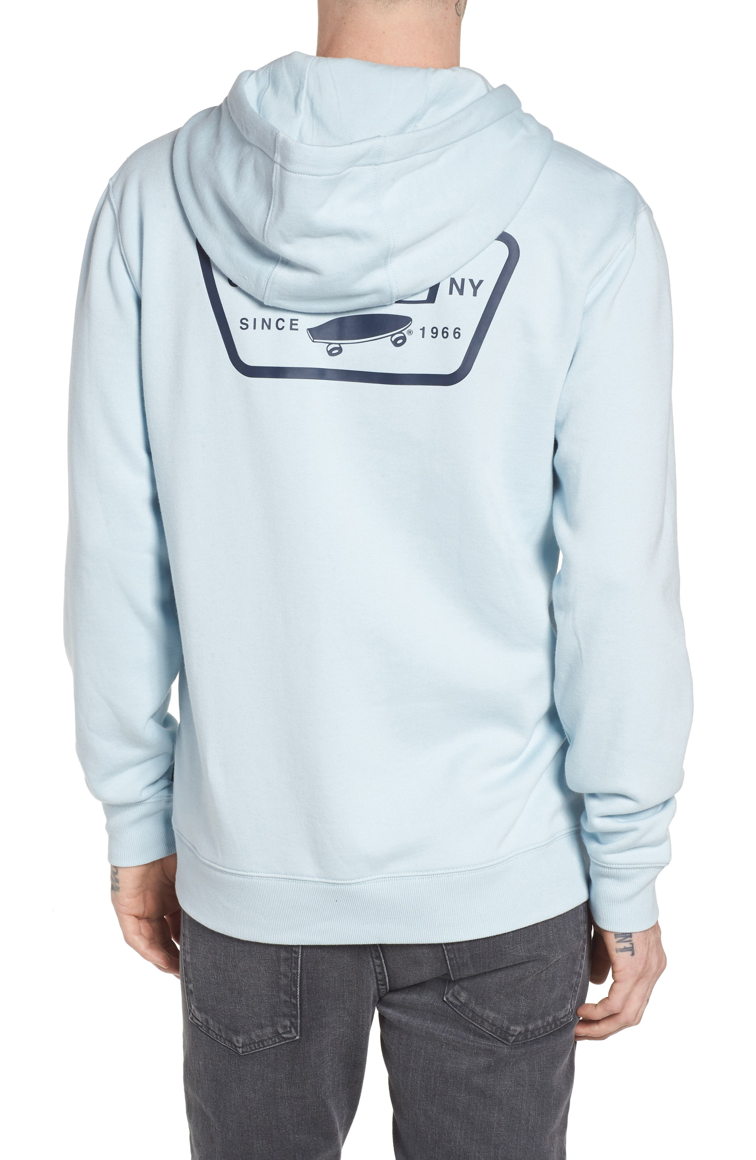 Full Patched Hoodie Sweatshirt,                             Alternate thumbnail 2, color,                             Baby Blue