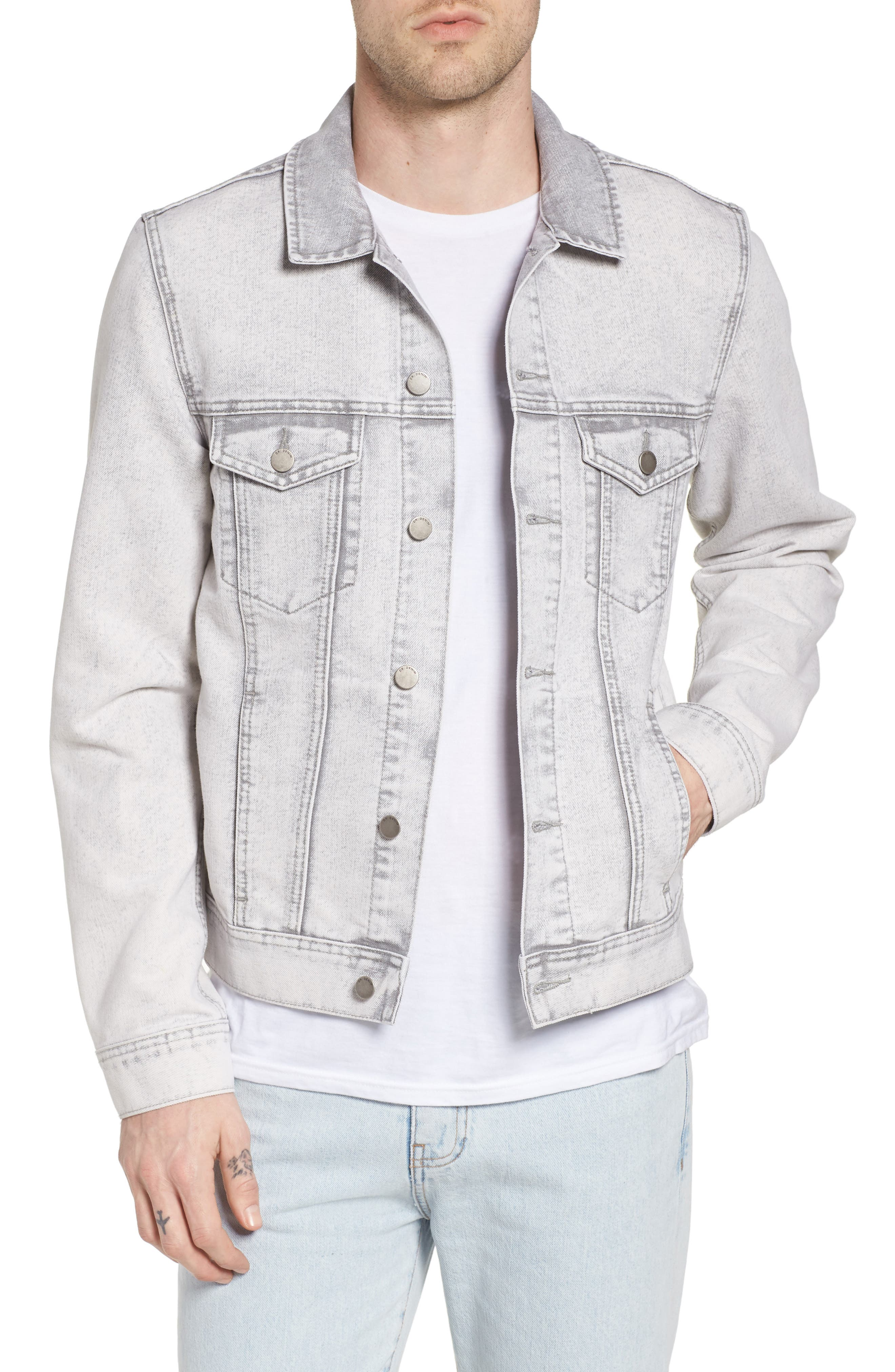 Dwight Denim Jacket,                             Main thumbnail 1, color,                             Dirty White