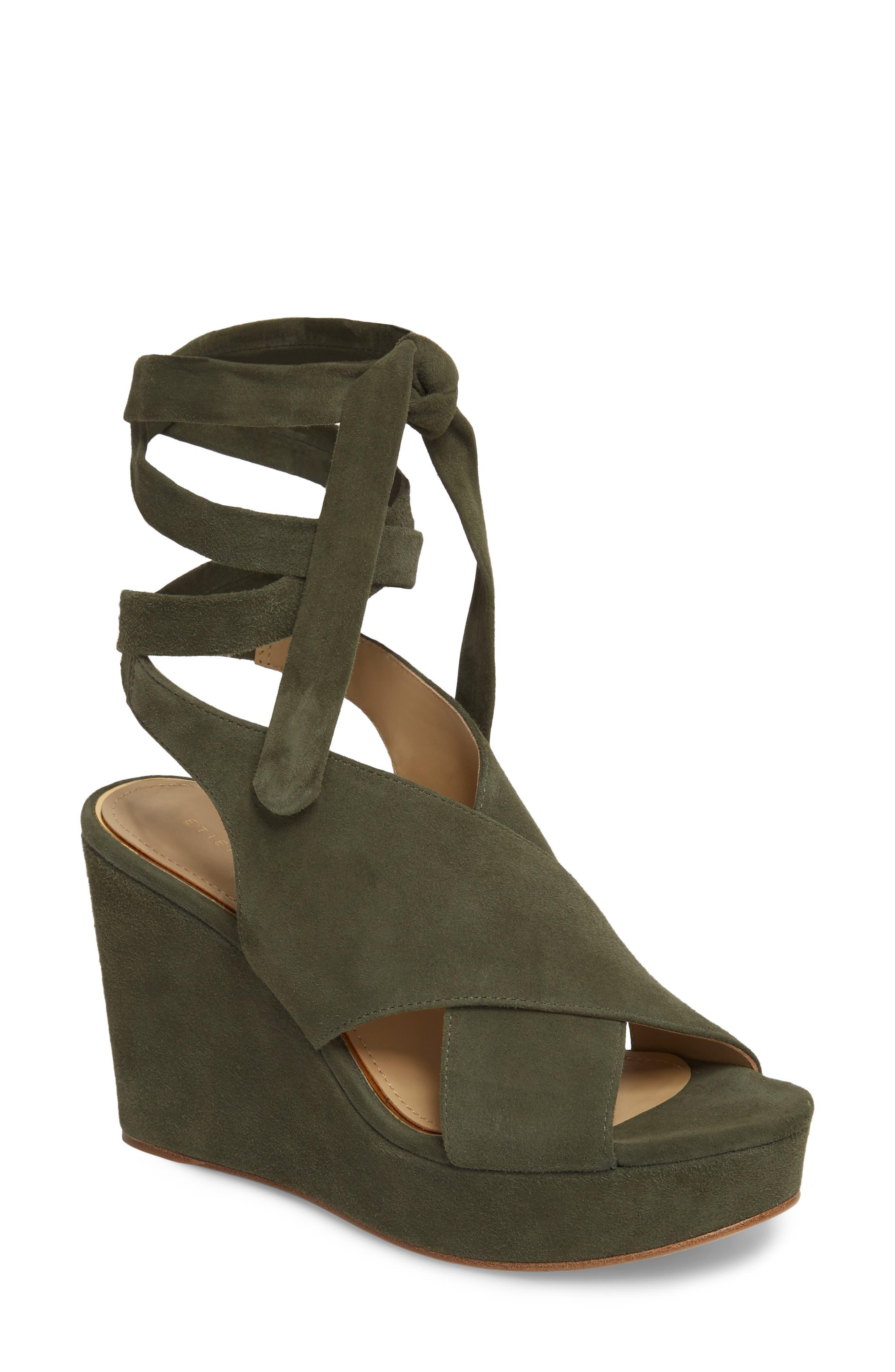 Etienne Aigner Dominica Platform Wedge Sandal (Women)