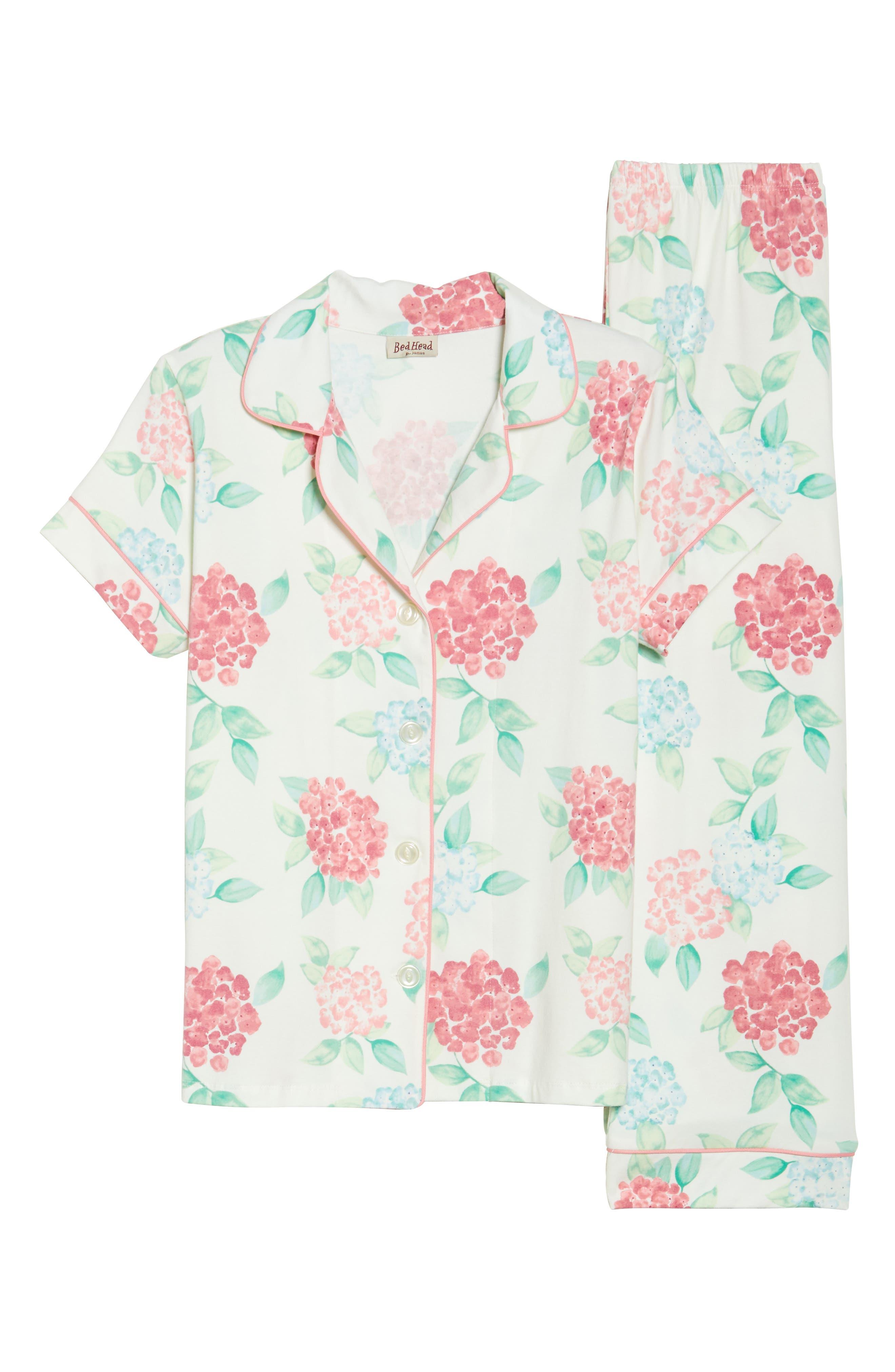 Crop Pajamas,                             Alternate thumbnail 4, color,                             Hydrangea