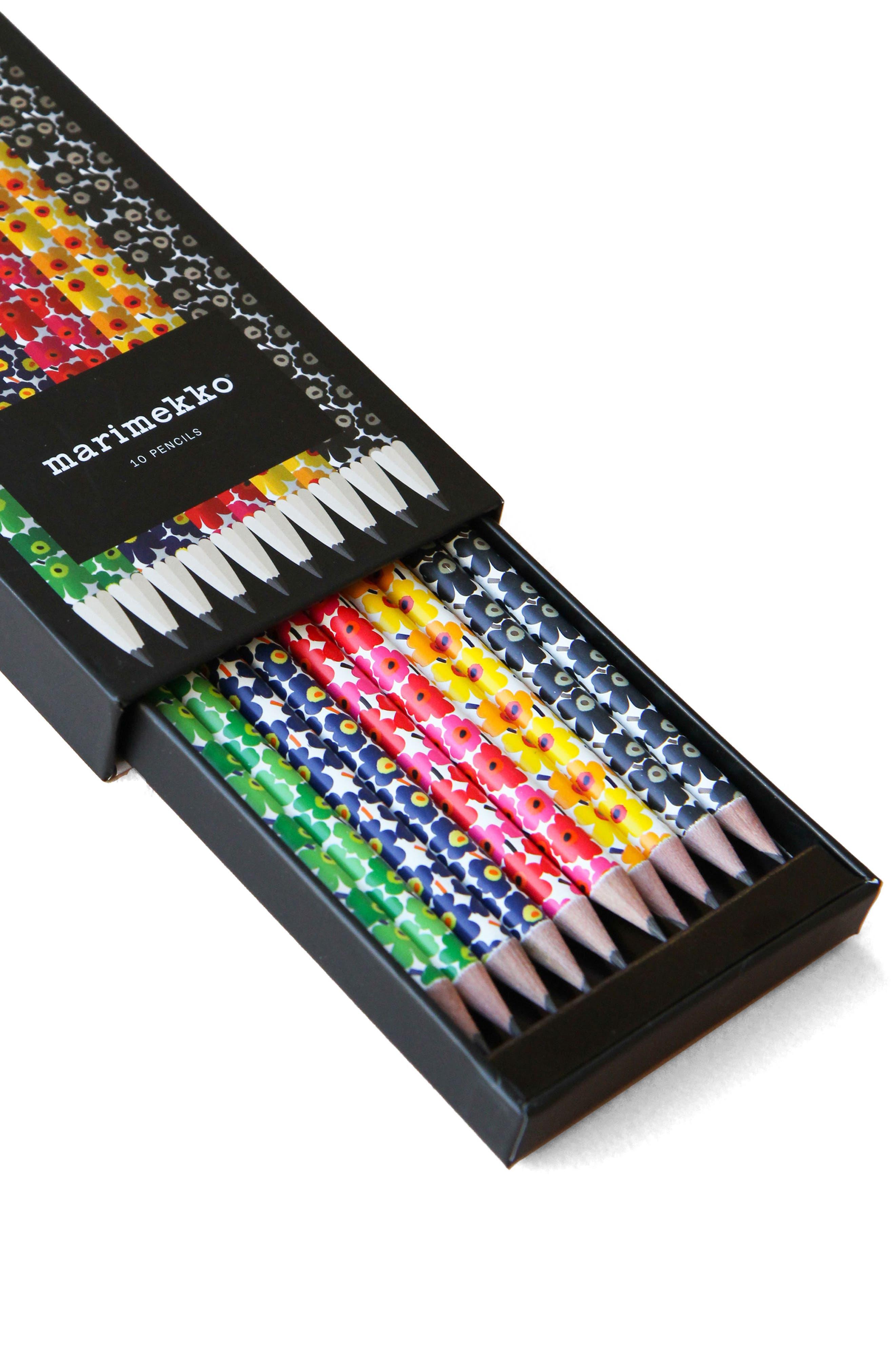 10-Pack Marimekko Pencils,                             Main thumbnail 1, color,                             Multi