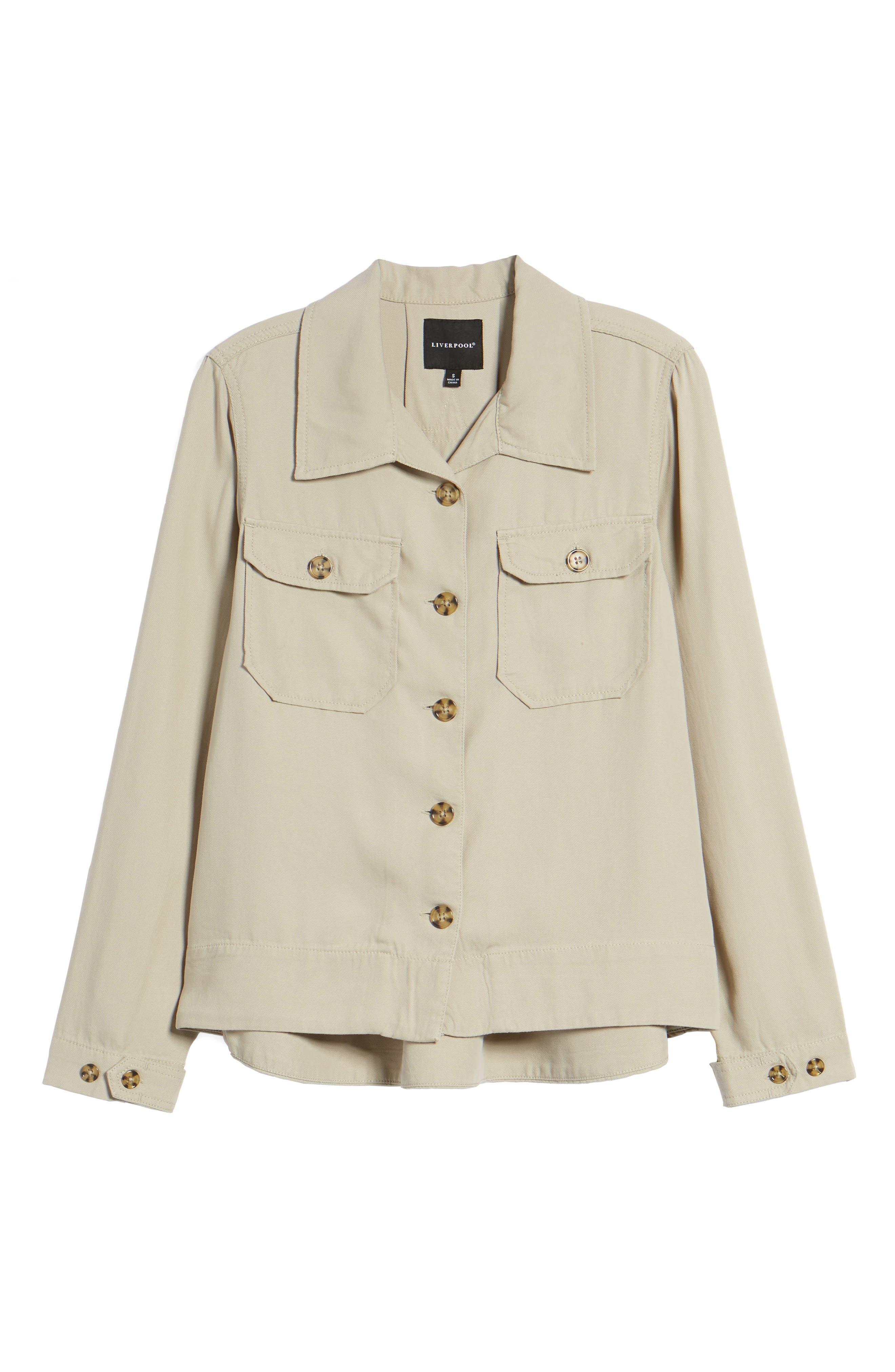 Flyaway Shirt Jacket,                             Alternate thumbnail 6, color,                             Chateau Gray