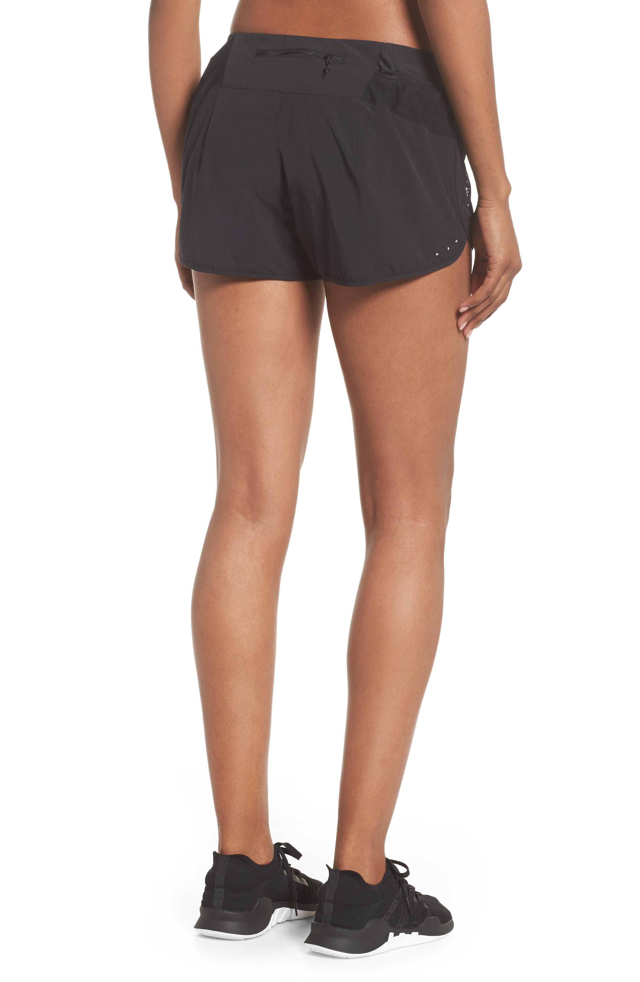 Essential Running Shorts,                             Alternate thumbnail 2, color,                             Black