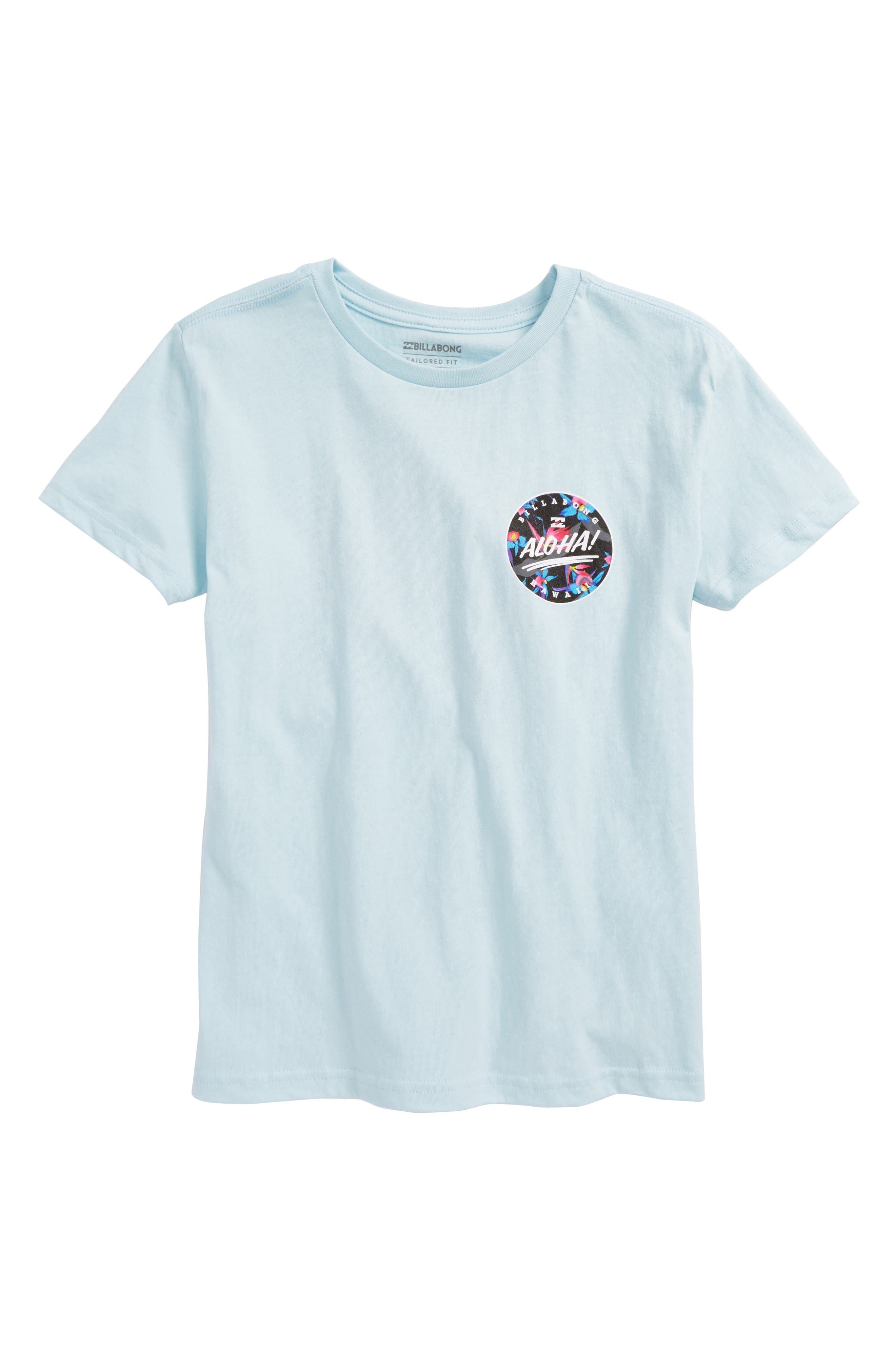 Hi Aloha T-Shirt,                         Main,                         color, Coastal Blue