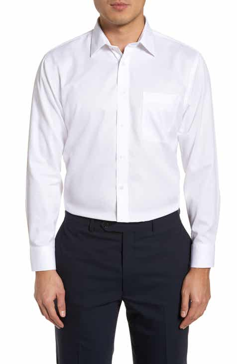 c05b329a5be Nordstrom Men s Shop Smartcare™ Trim Fit Dress Shirt