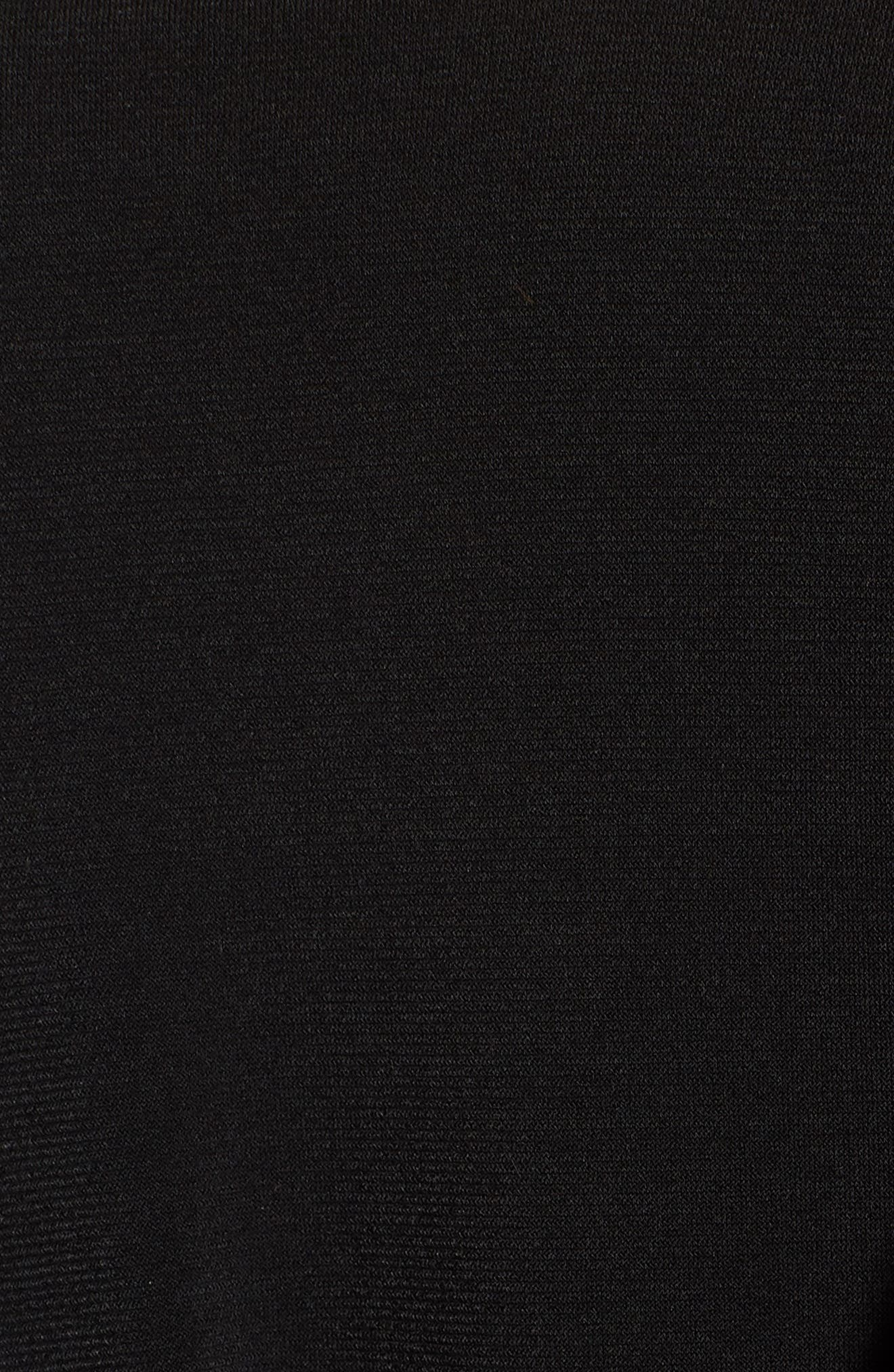 Shoulder Tie Tank Dress,                             Alternate thumbnail 5, color,                             Black