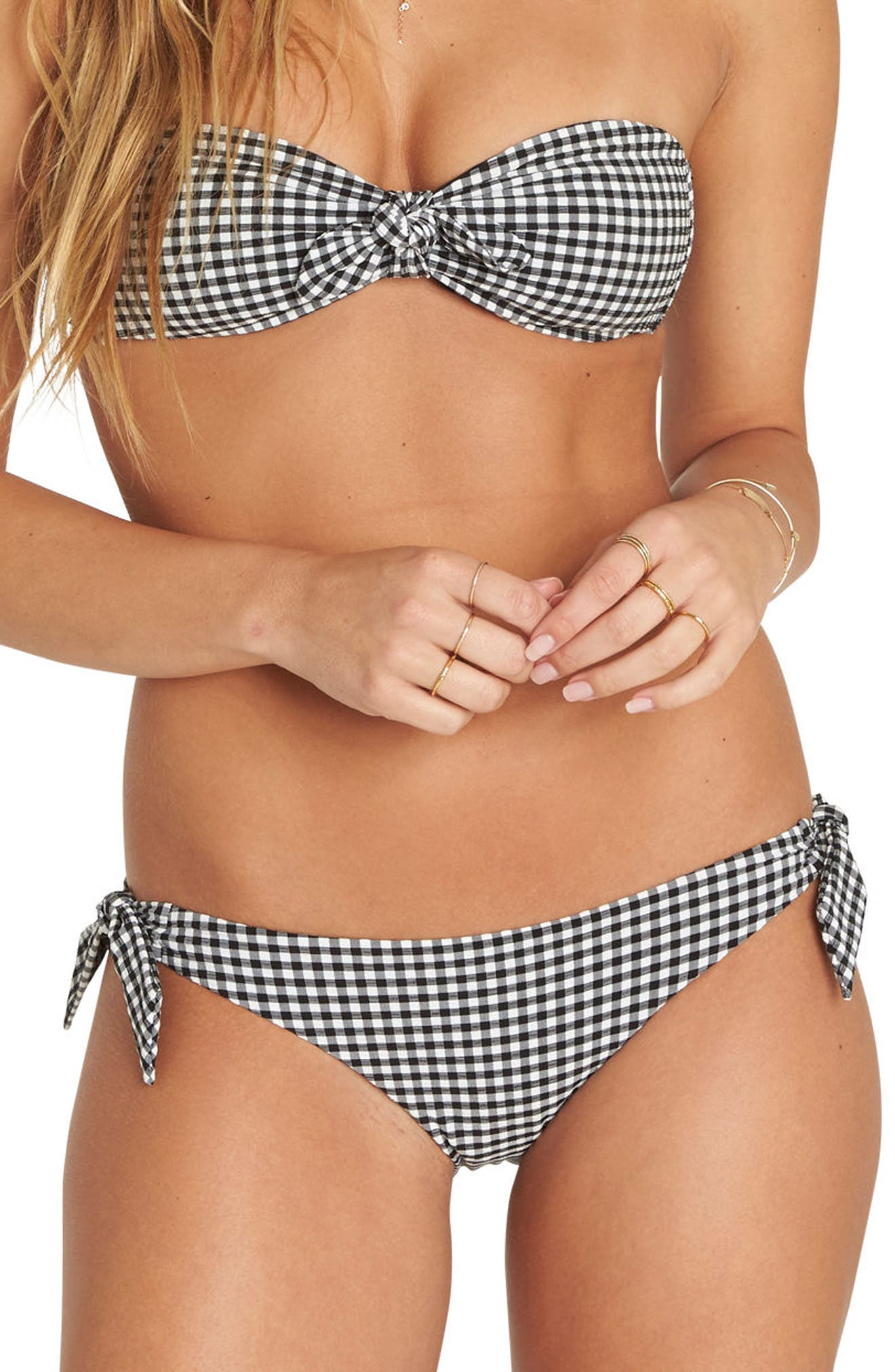 Surf Check Tropic Bikini Bottoms,                             Main thumbnail 1, color,                             Black Pebble