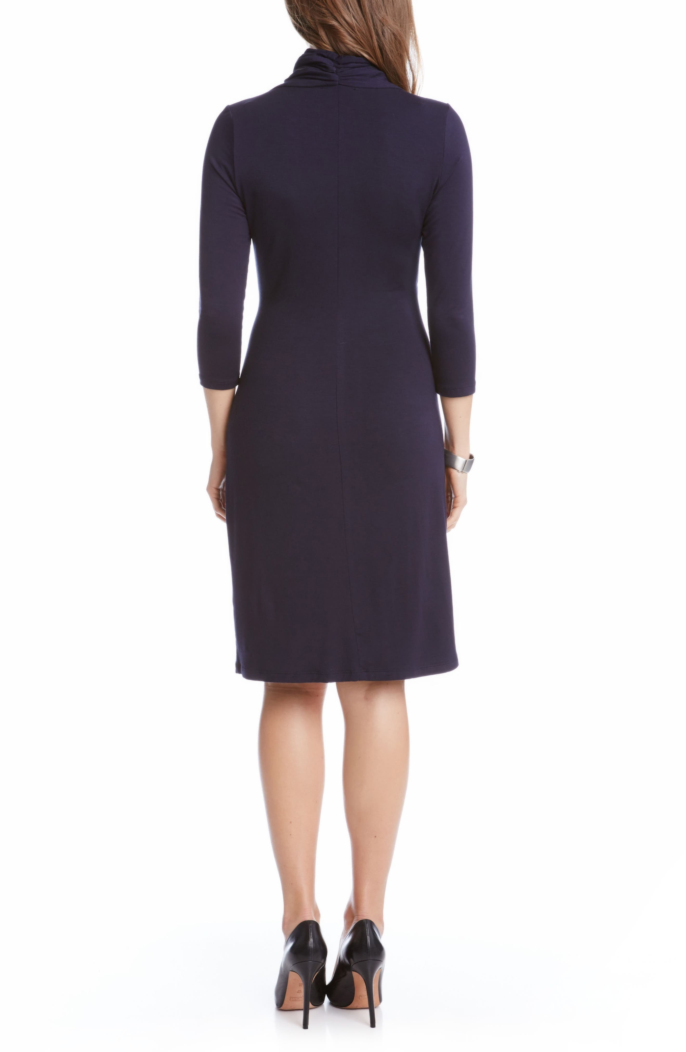 Alternate Image 2  - Karen Kane Cascade Faux Wrap Dress (Regular & Petite)