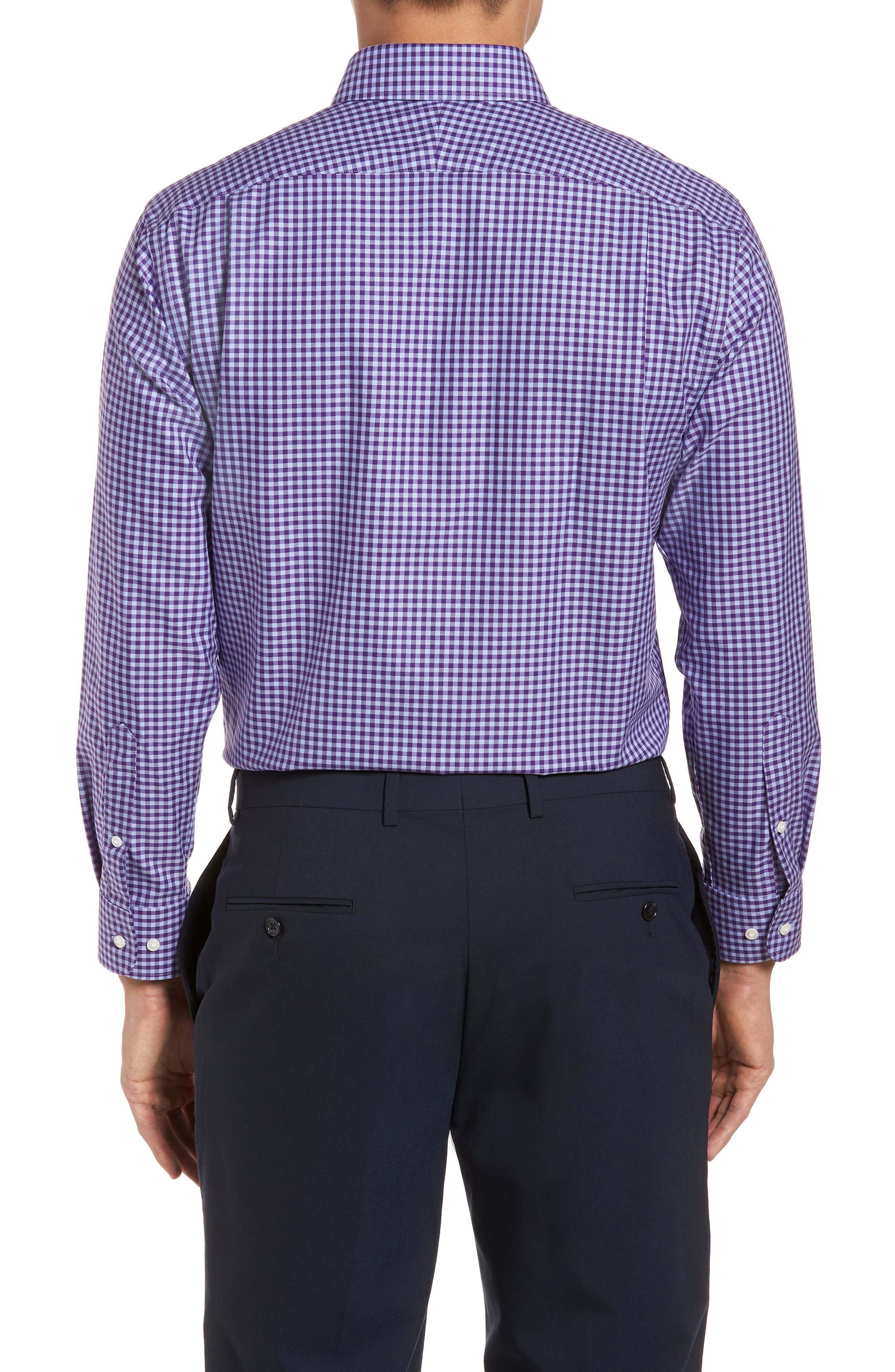 Alternate Image 2  - Nordstrom Men's Shop Trim Fit Non-Iron Gingham Dress Shirt