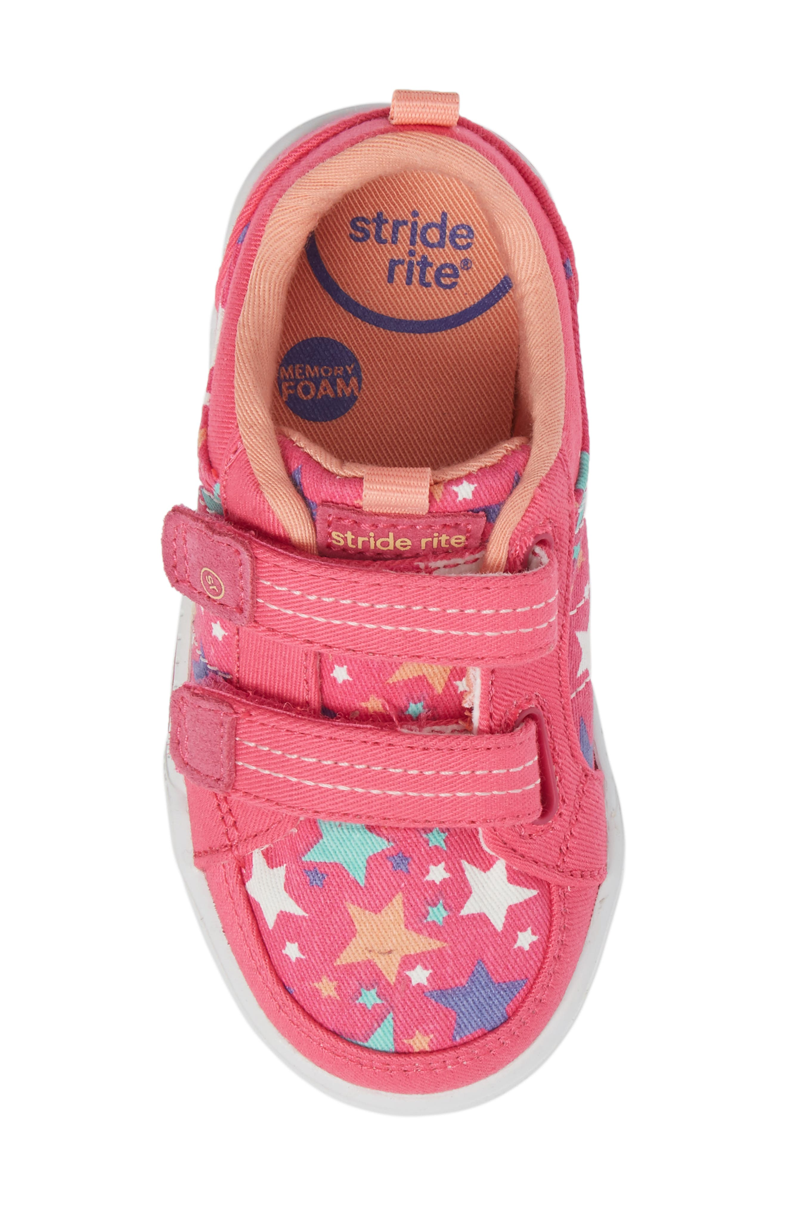 Logan Patterned Sneaker,                             Alternate thumbnail 5, color,                             Pink Star
