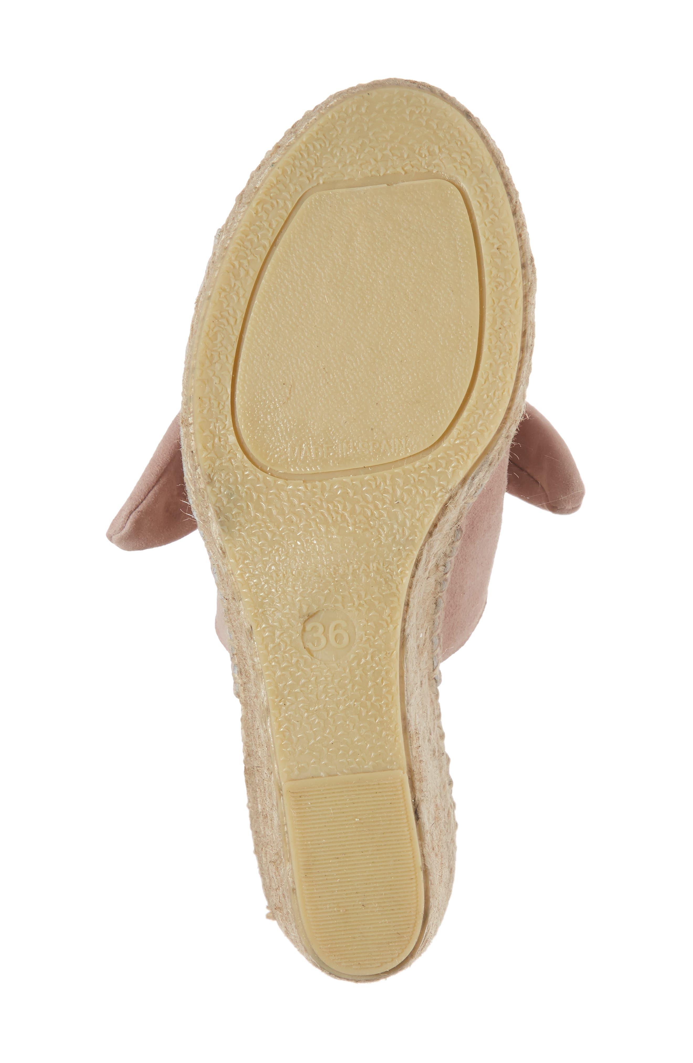 Flirt Espadrille Wedge Sandal,                             Alternate thumbnail 6, color,                             Pink Suede