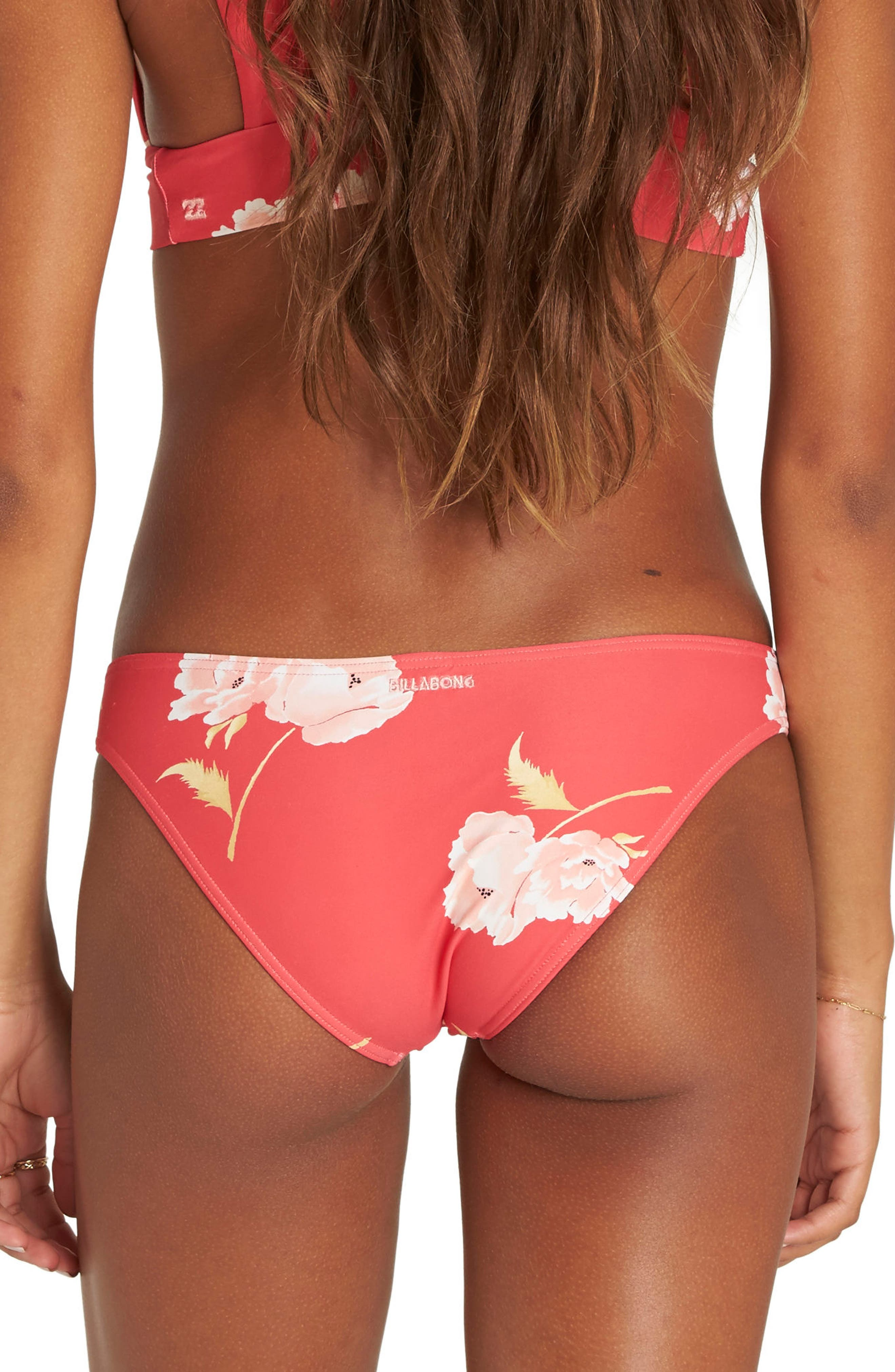 Floral Dawn Tropic Bikini Bottoms,                             Alternate thumbnail 2, color,                             Geranium