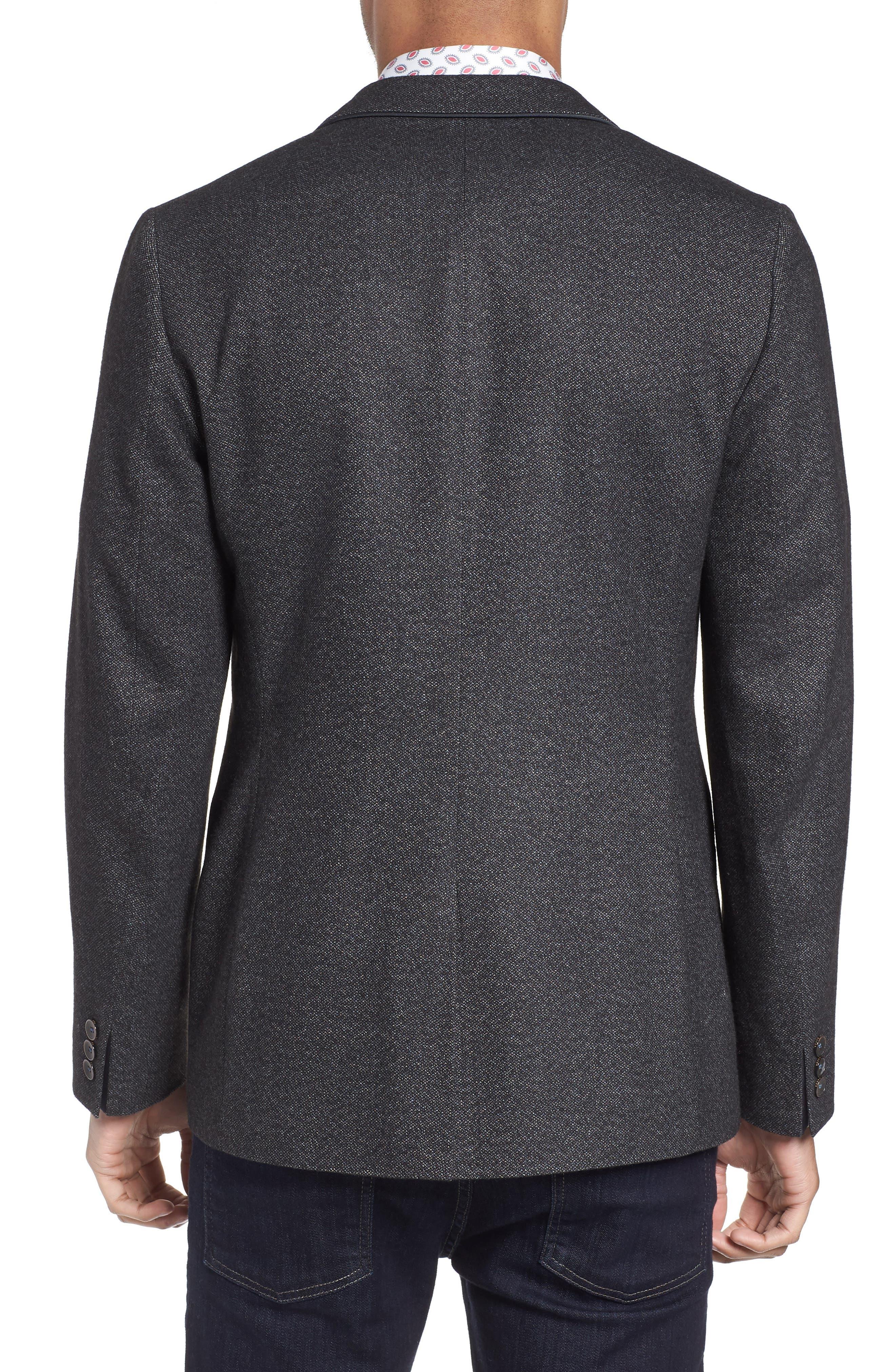 Beektt Semi Plain Trim Fit Jacket,                             Alternate thumbnail 2, color,                             Charcoal