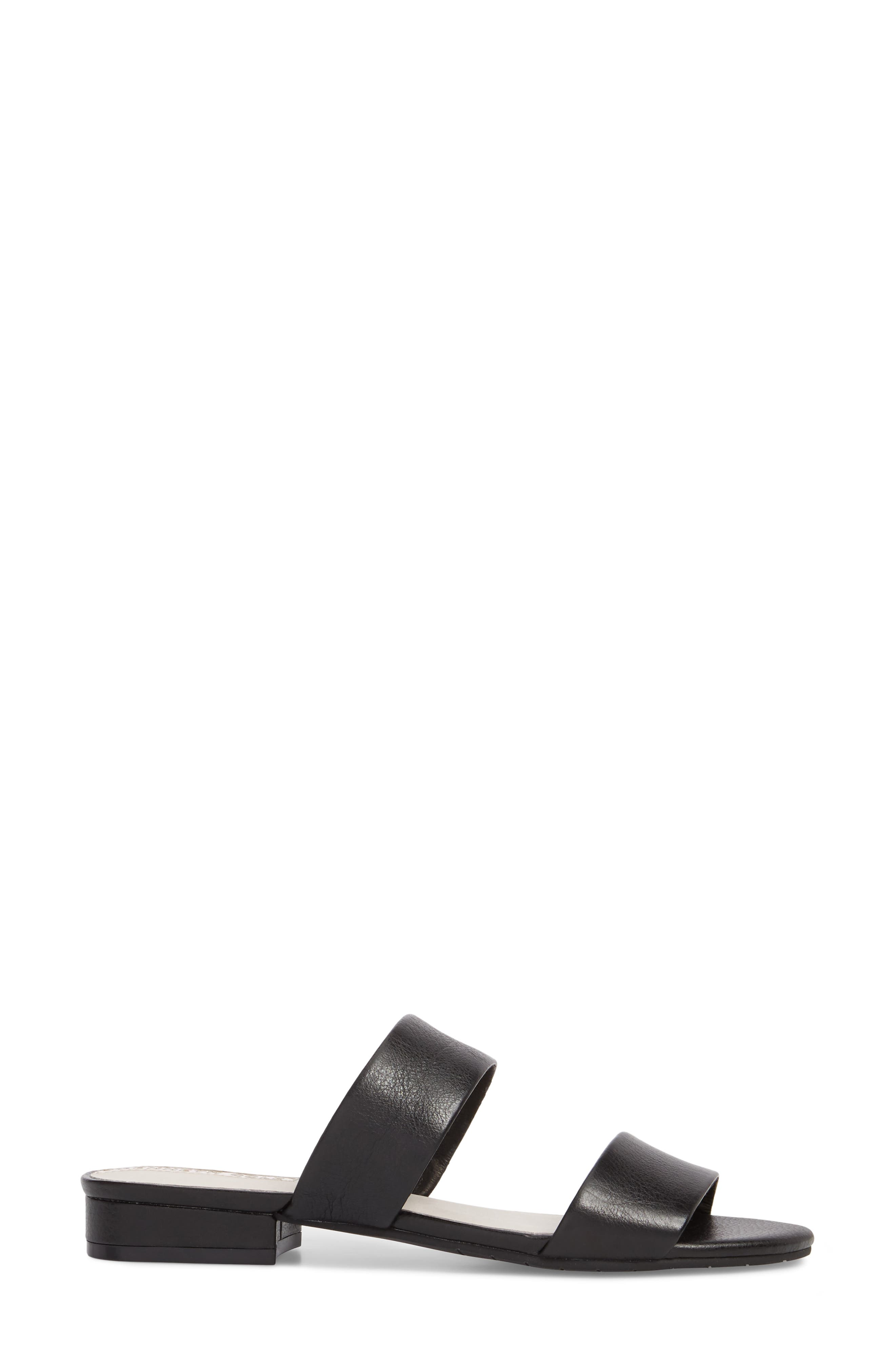 Viola Sandal,                             Alternate thumbnail 3, color,                             Black Leather
