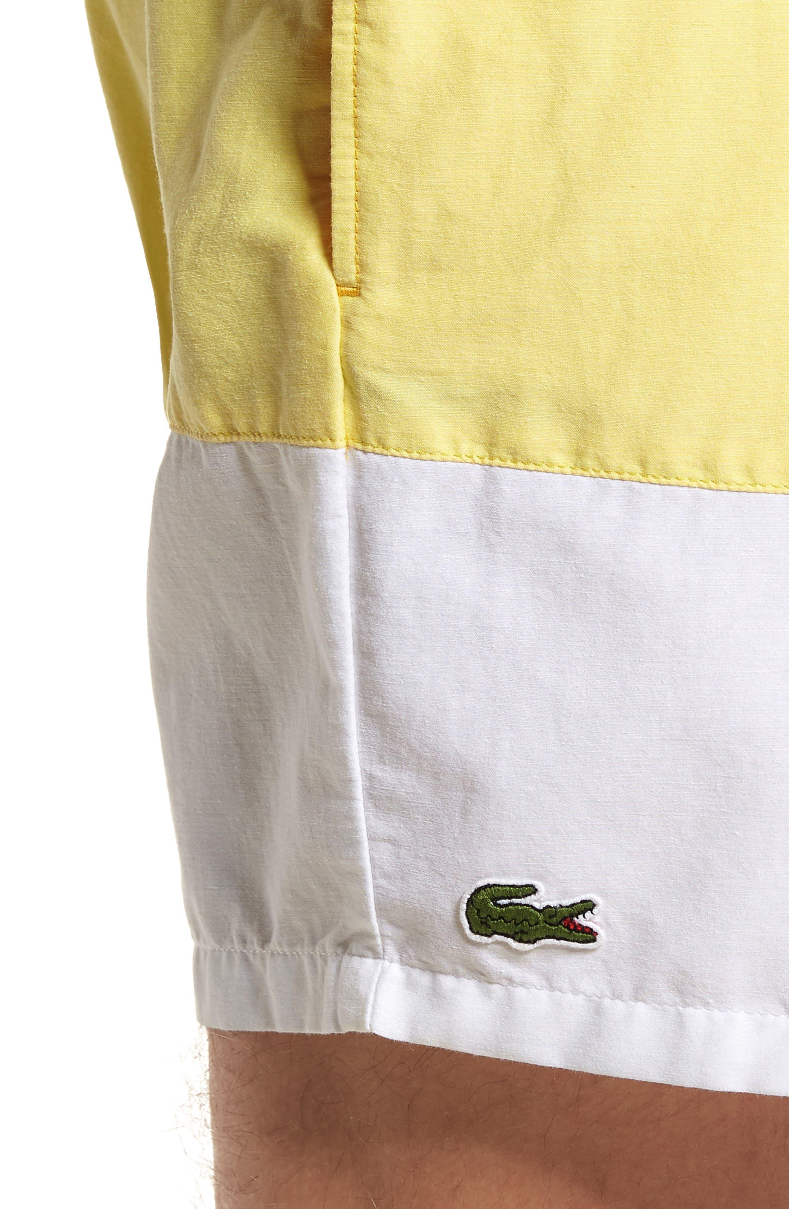 Alternate Image 4  - Lacoste Colorblock Swim Trunks