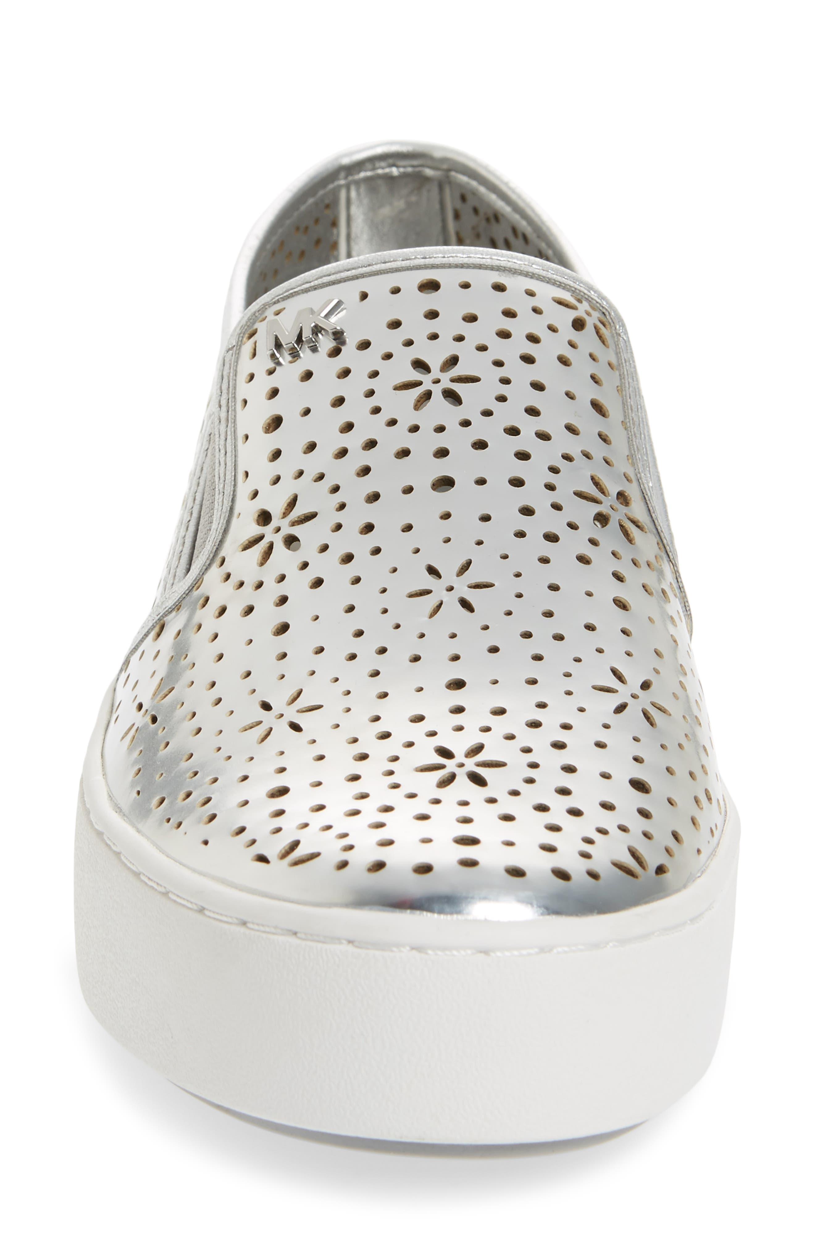 Trent Slip-On Sneaker,                             Alternate thumbnail 4, color,                             Silver