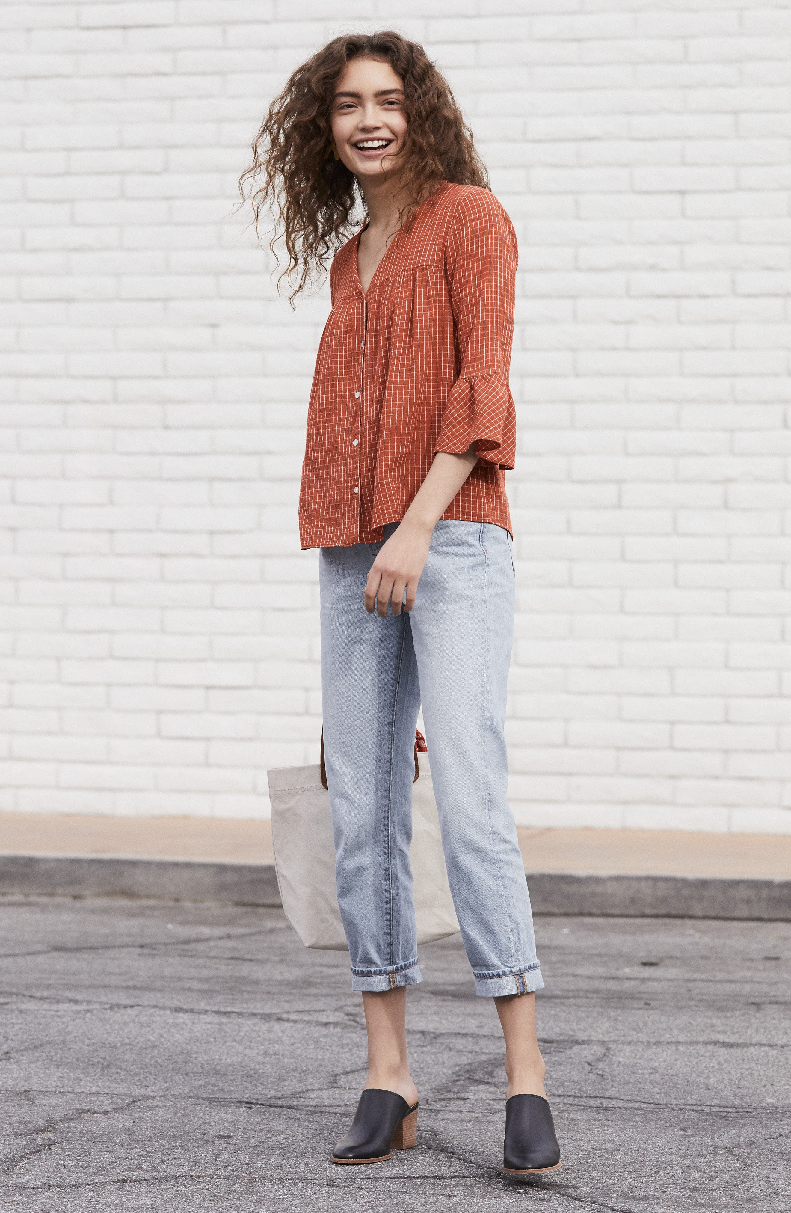 Alternate Image 2  - Madewell Veranda Bell Sleeve Shirt