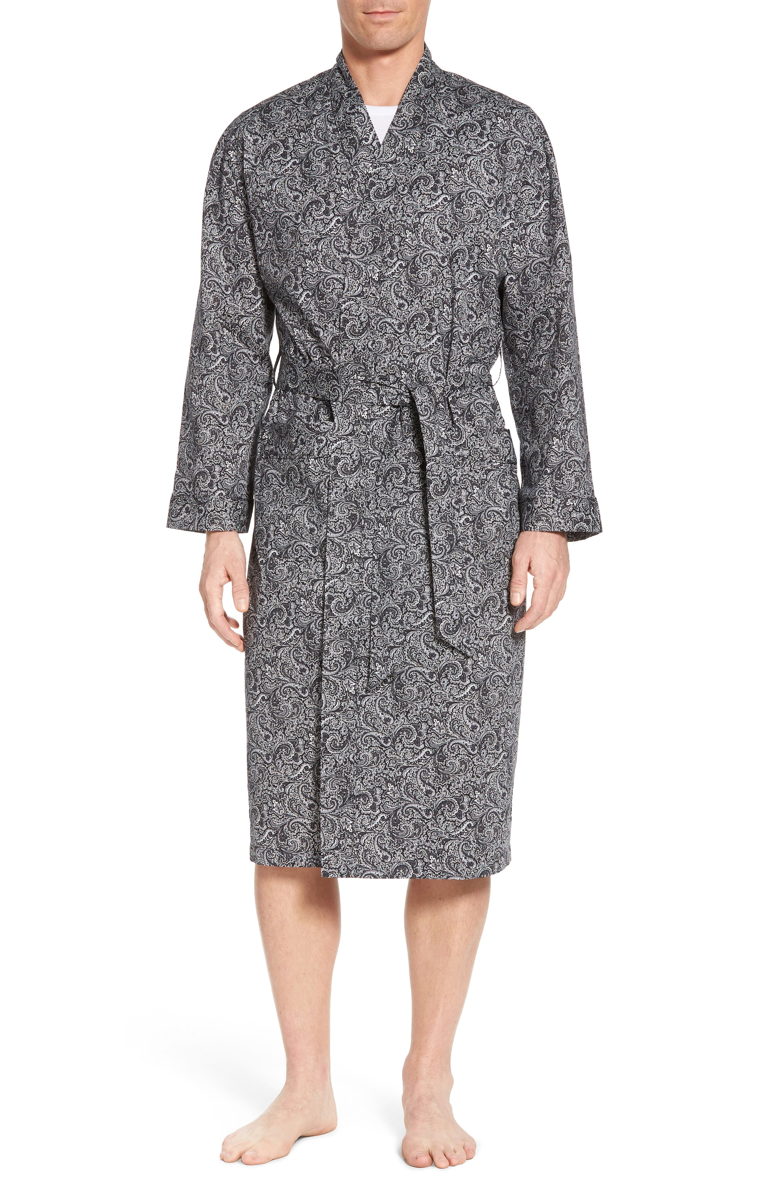 Starling Robe,                             Main thumbnail 1, color,                             Black Paisley