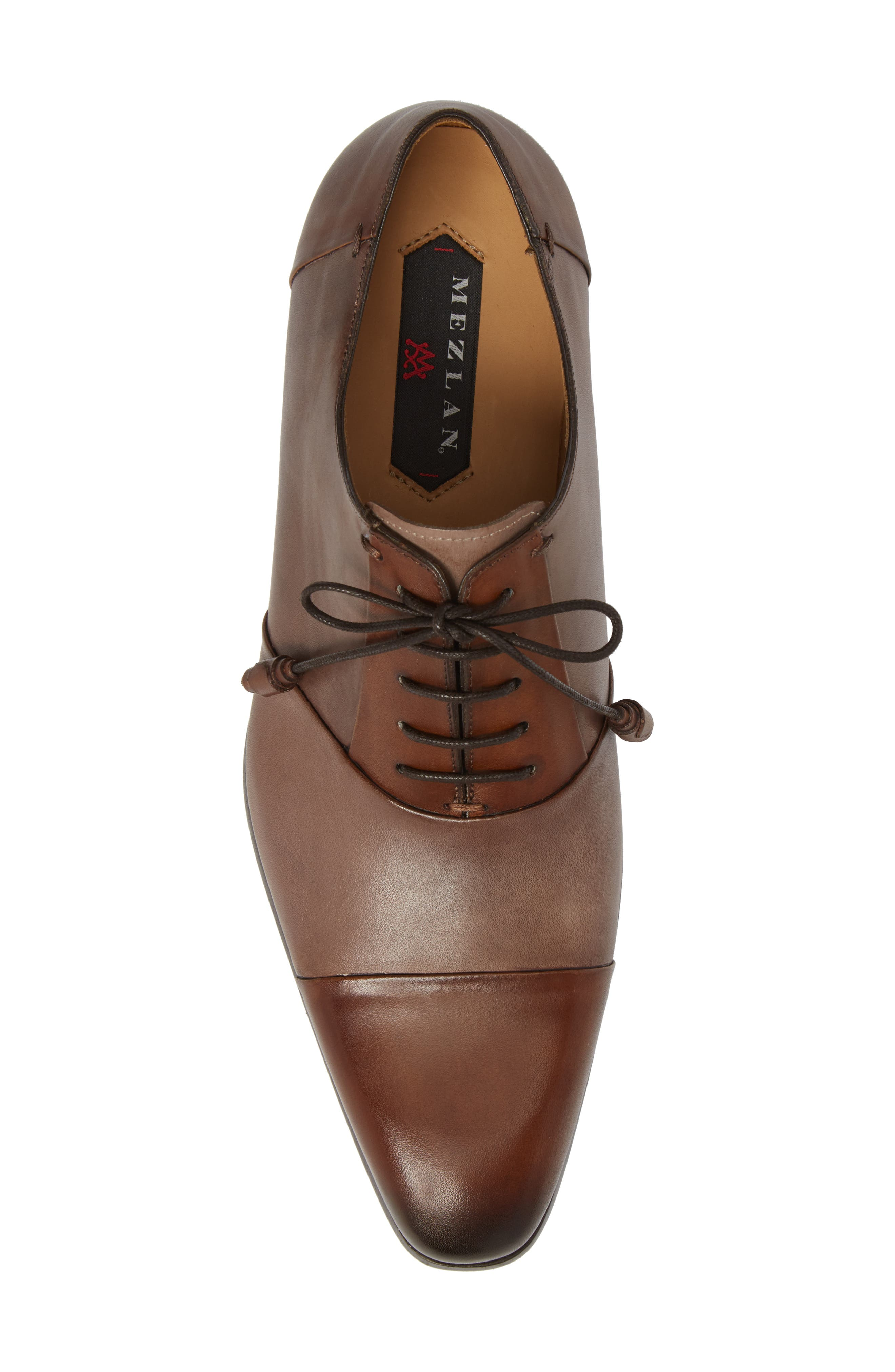 Julius Spectator Oxford,                             Alternate thumbnail 5, color,                             Cognac/ Taupe Leather