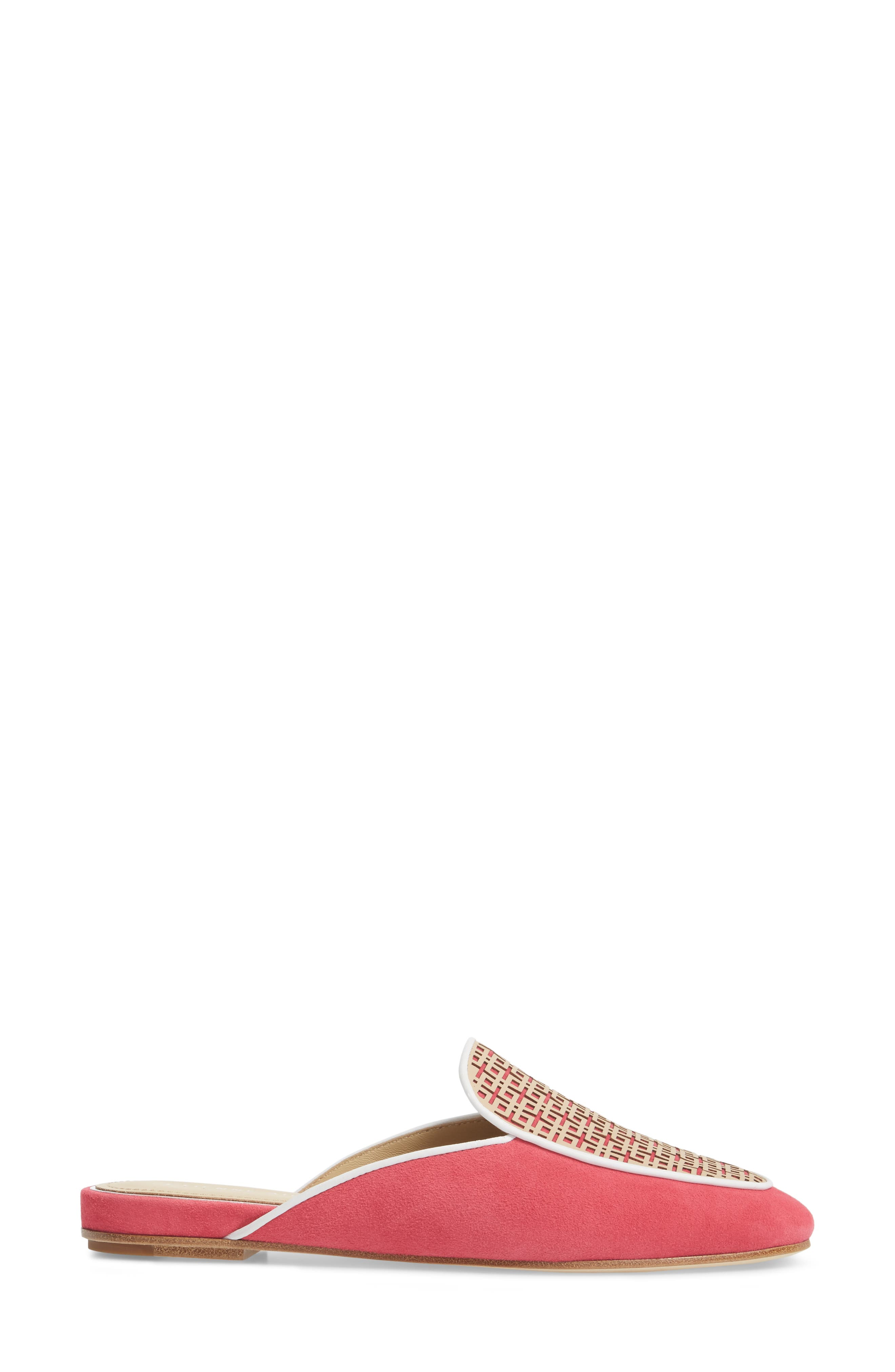 Caymen Mule,                             Alternate thumbnail 3, color,                             Natural/ Peony/ White