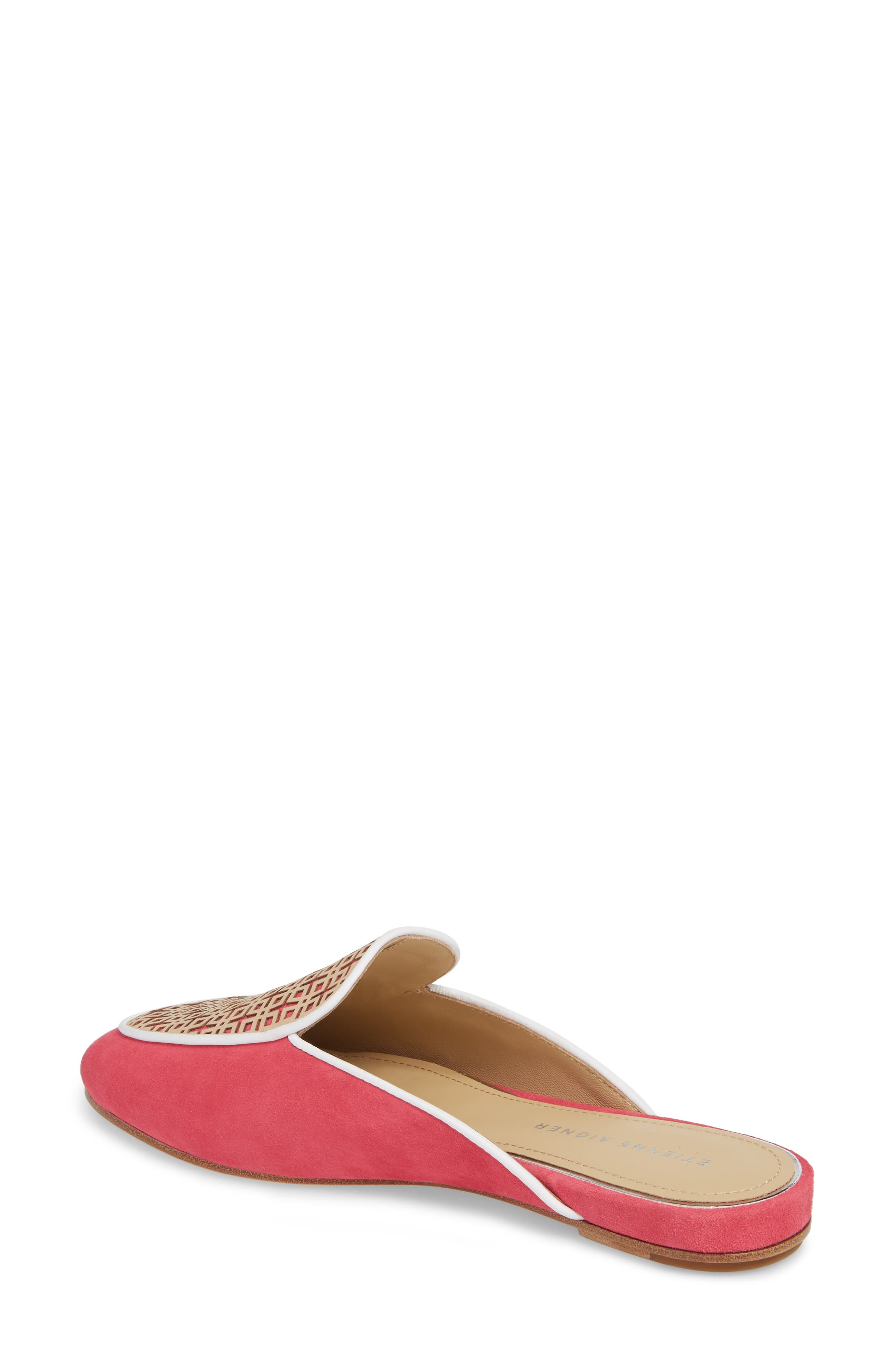 Caymen Mule,                             Alternate thumbnail 2, color,                             Natural/ Peony/ White
