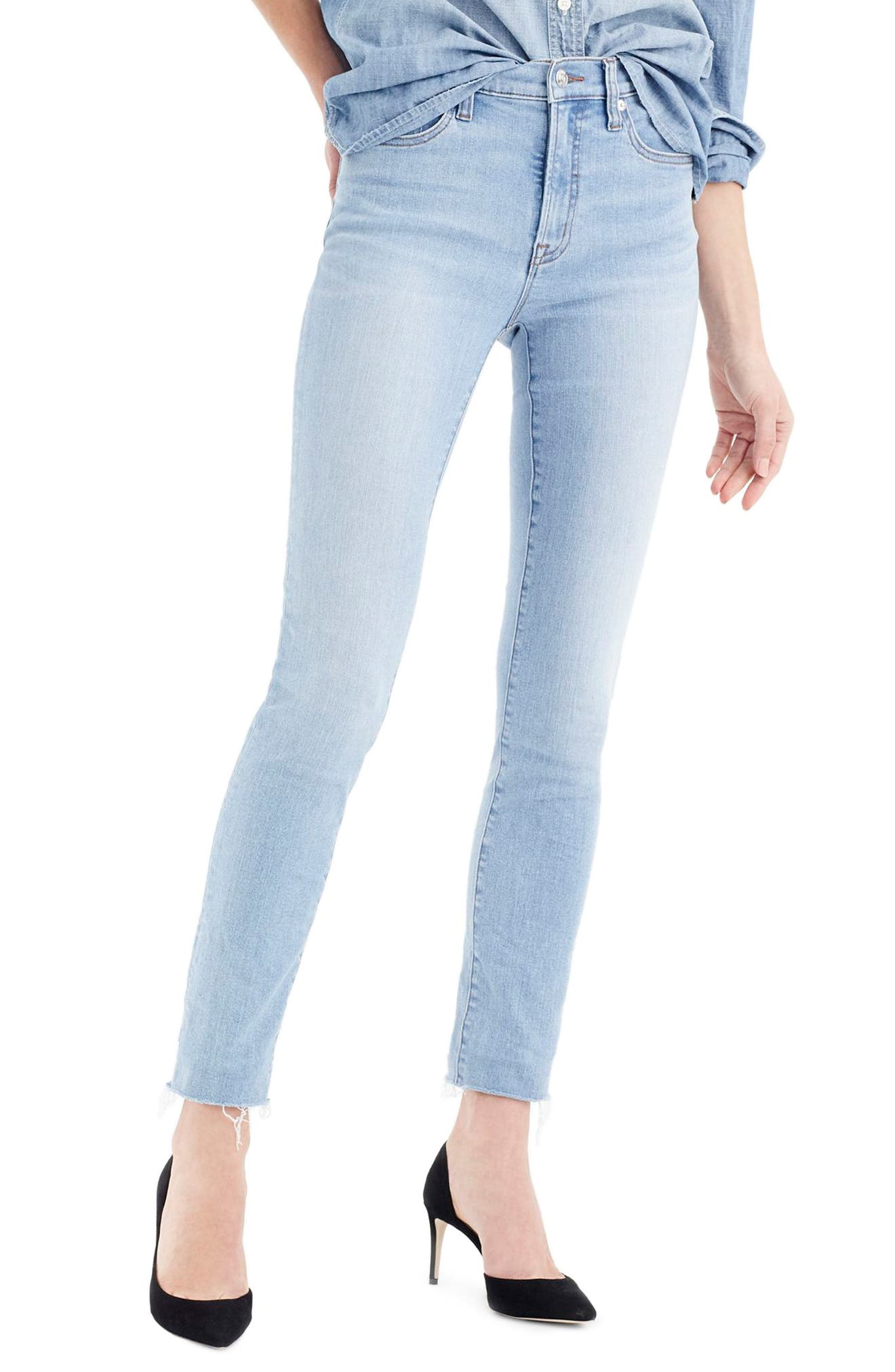 Main Image - J.Crew High Rise Toothpick Jeans (Wilkerson Wash)