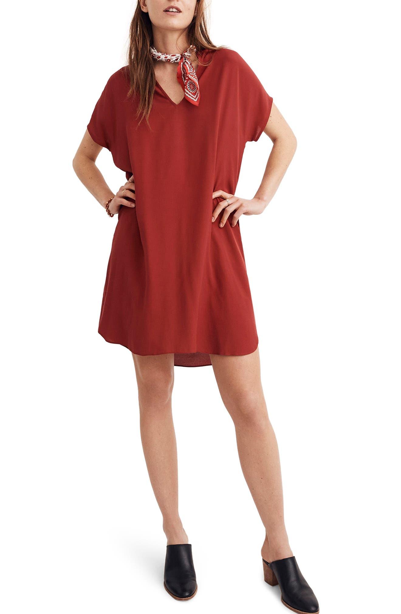 Bicoastal Dress,                         Main,                         color, Crimson