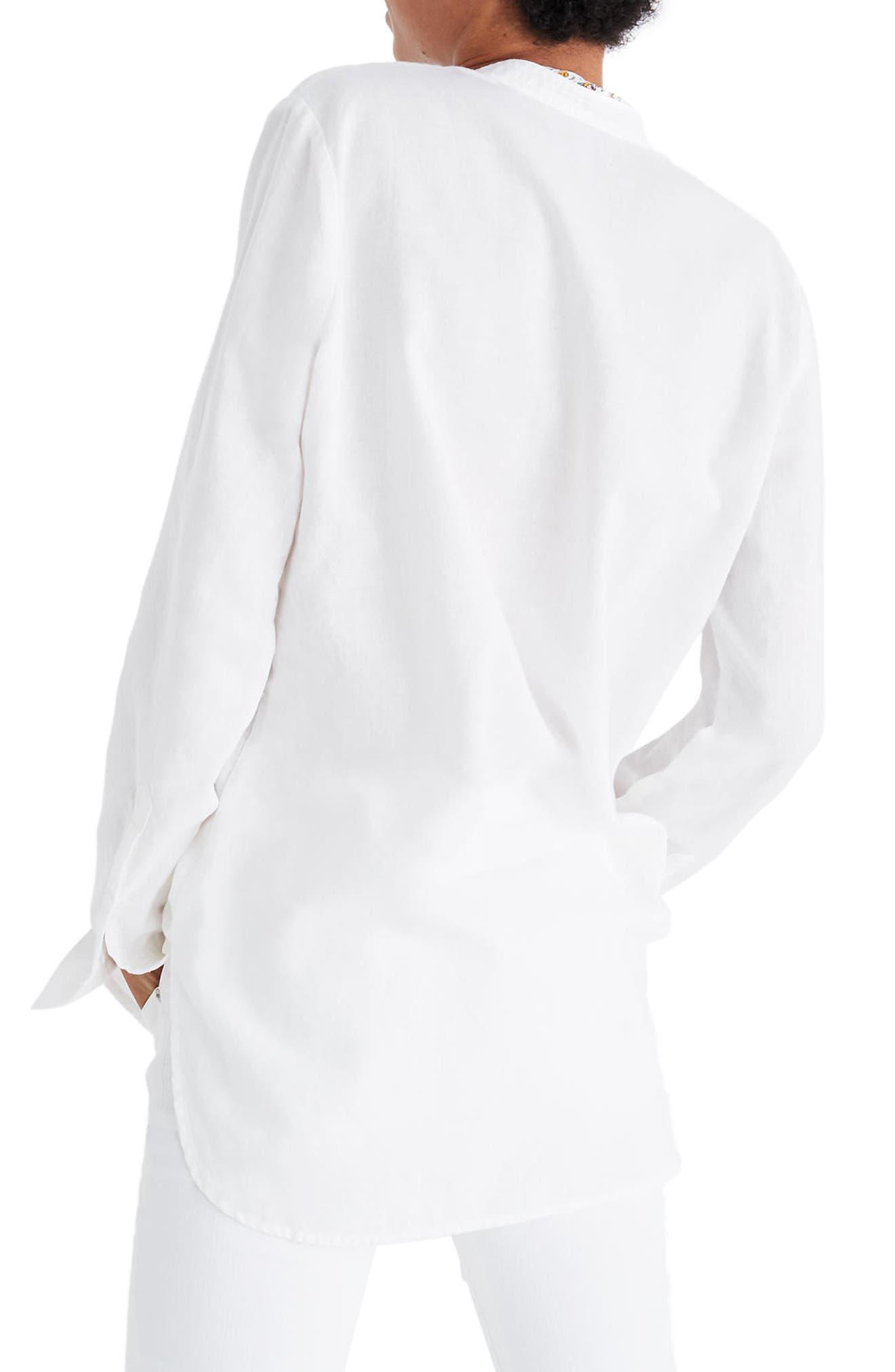 Wellspring Tunic Popover Shirt,                             Alternate thumbnail 2, color,                             Eyelet White