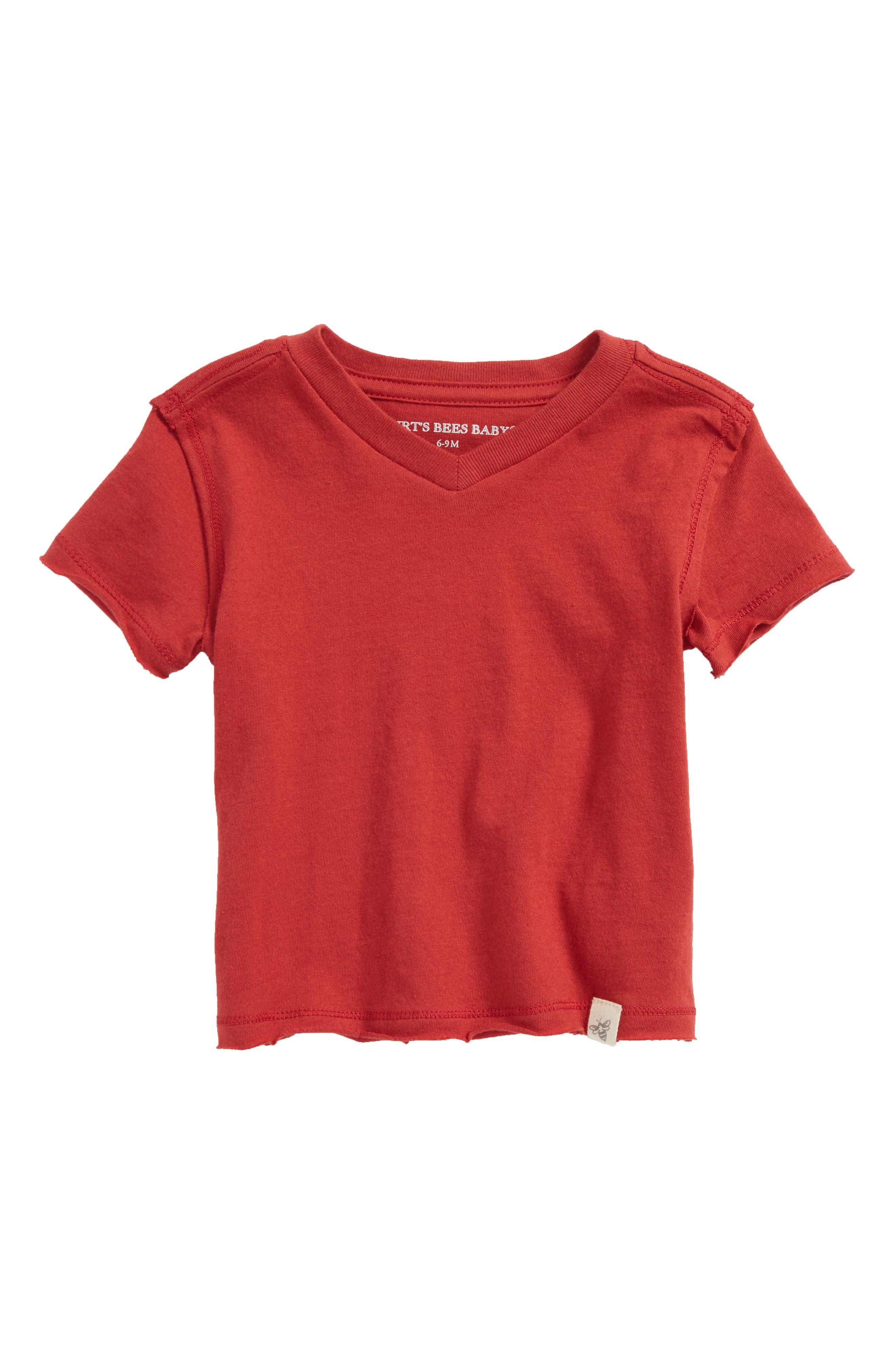 Organic Cotton T-Shirt,                         Main,                         color, Red Barn