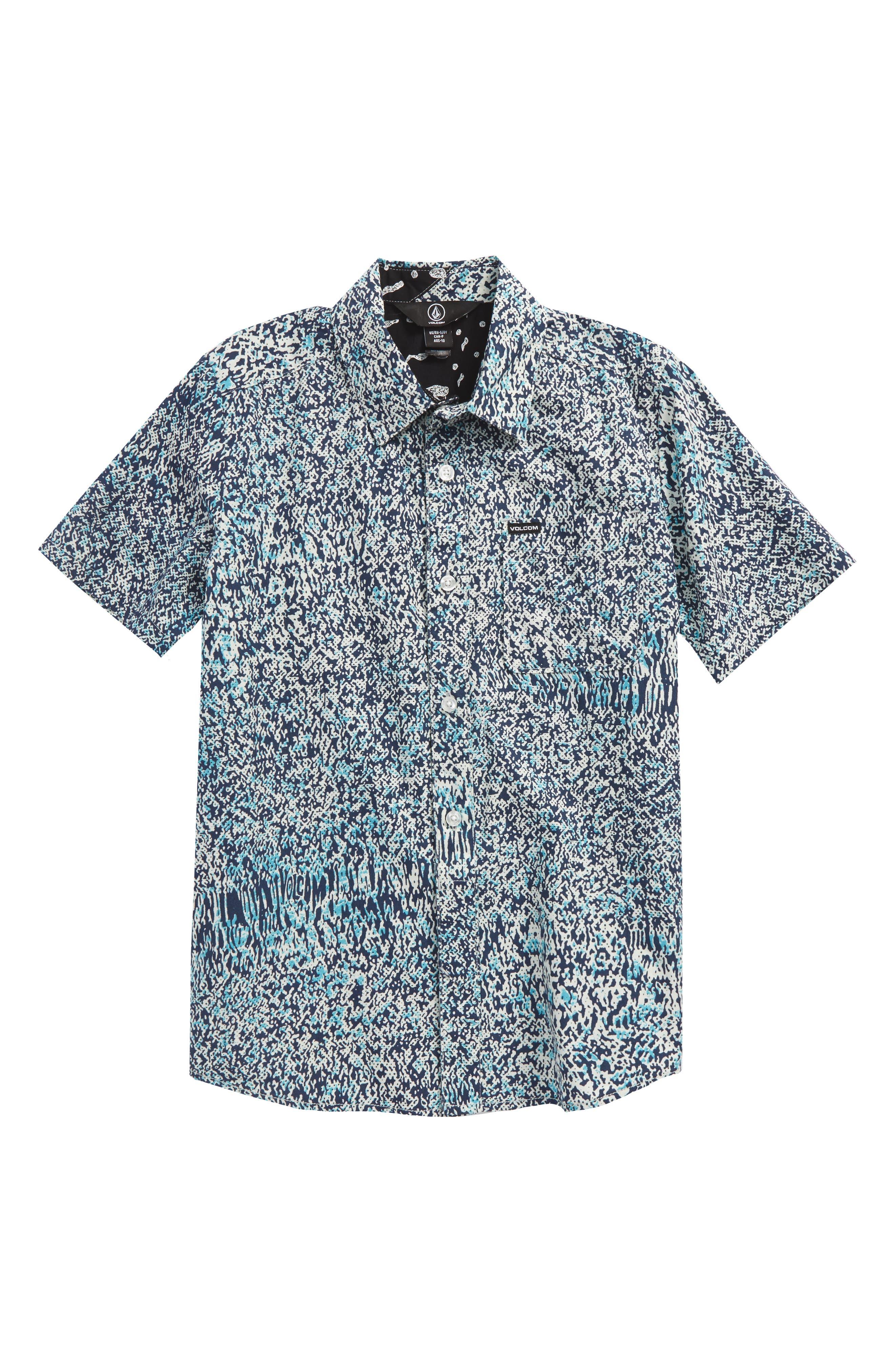 Volcom Drag Dot Short Sleeve Woven Shirt (Big Boys)