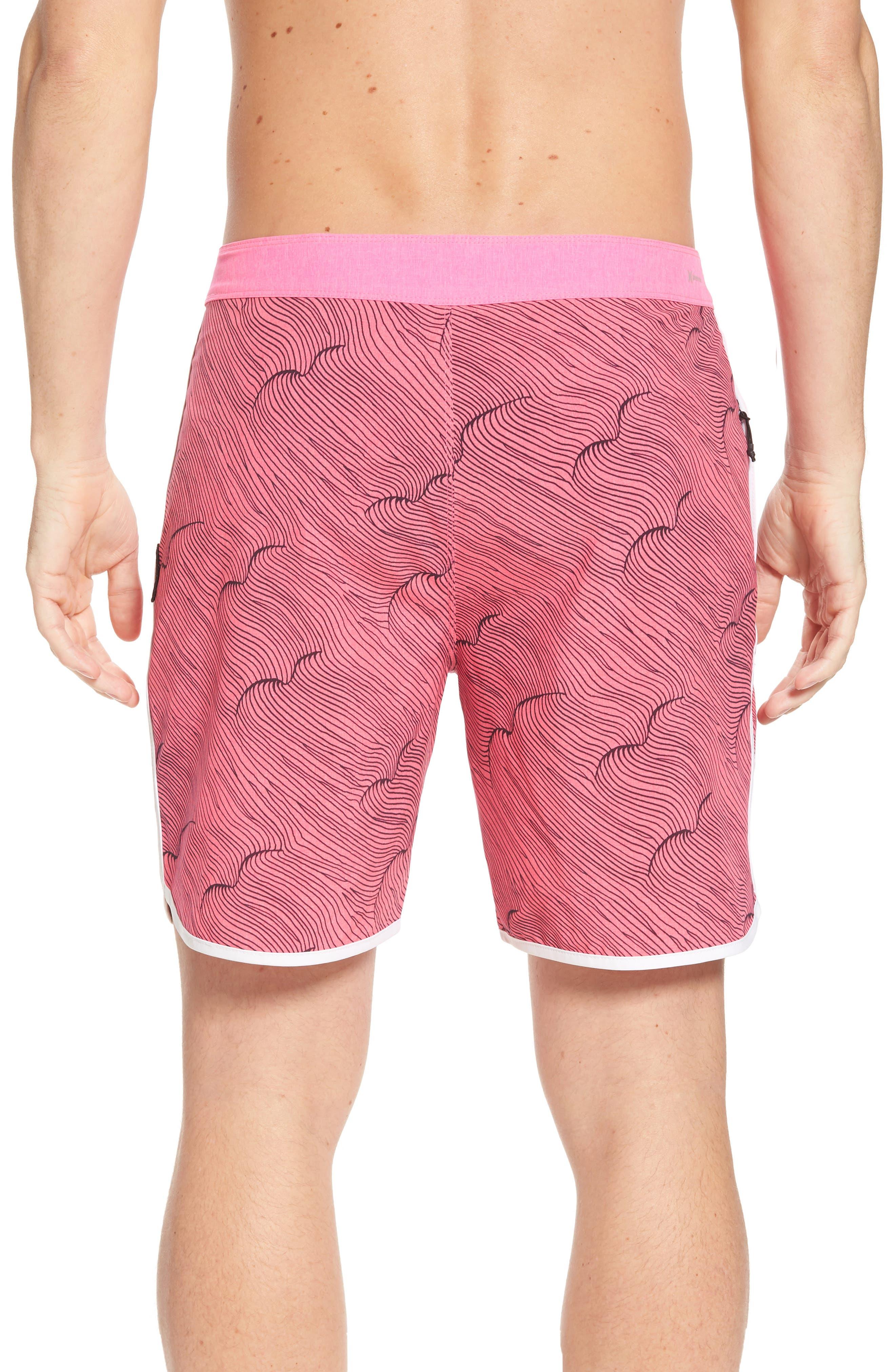 Phantom Thalia Street Board Shorts,                             Alternate thumbnail 2, color,                             Hyper Pink/Black