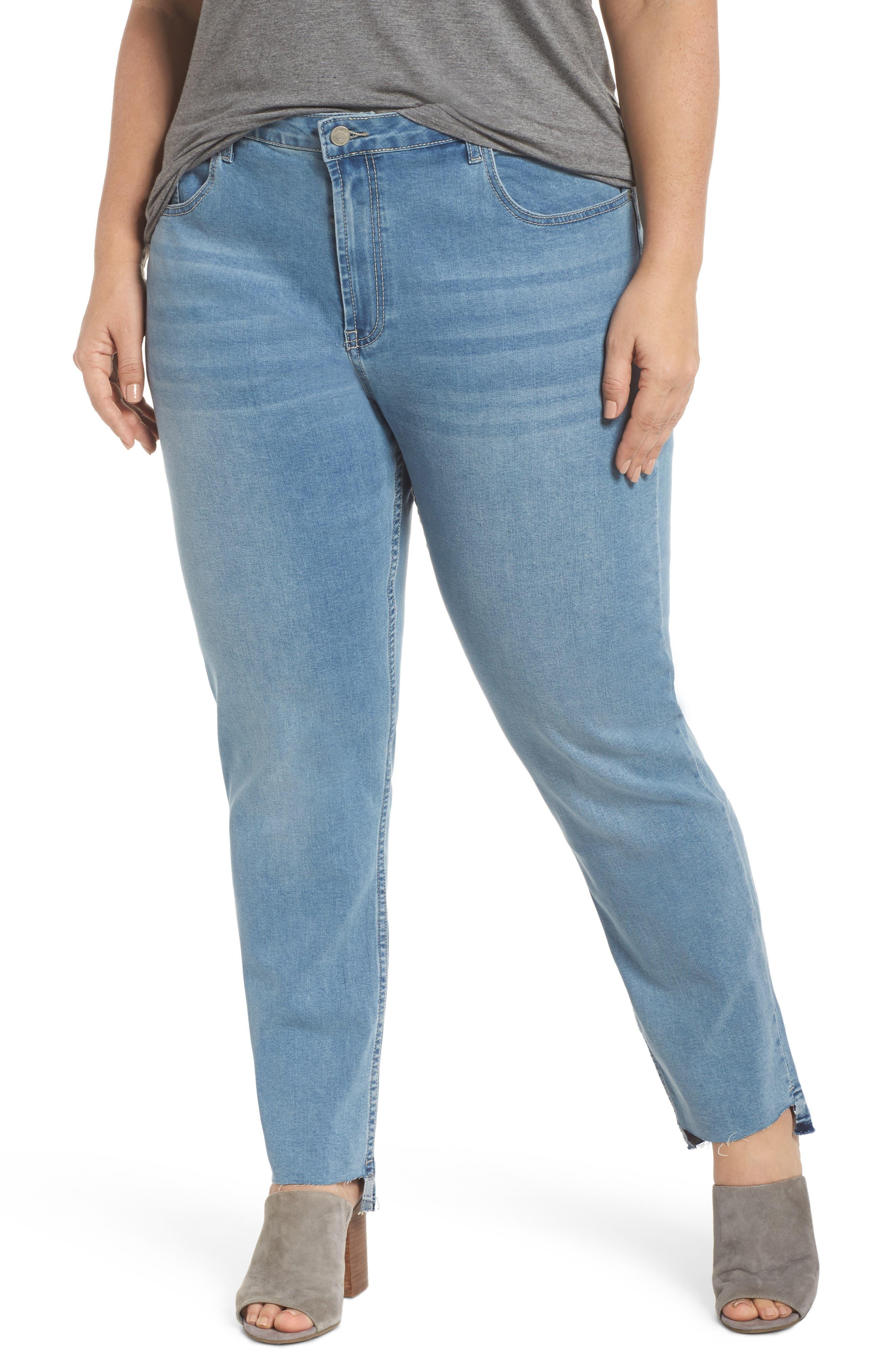 Glamorous Step Hem Jeans (Plus Size)
