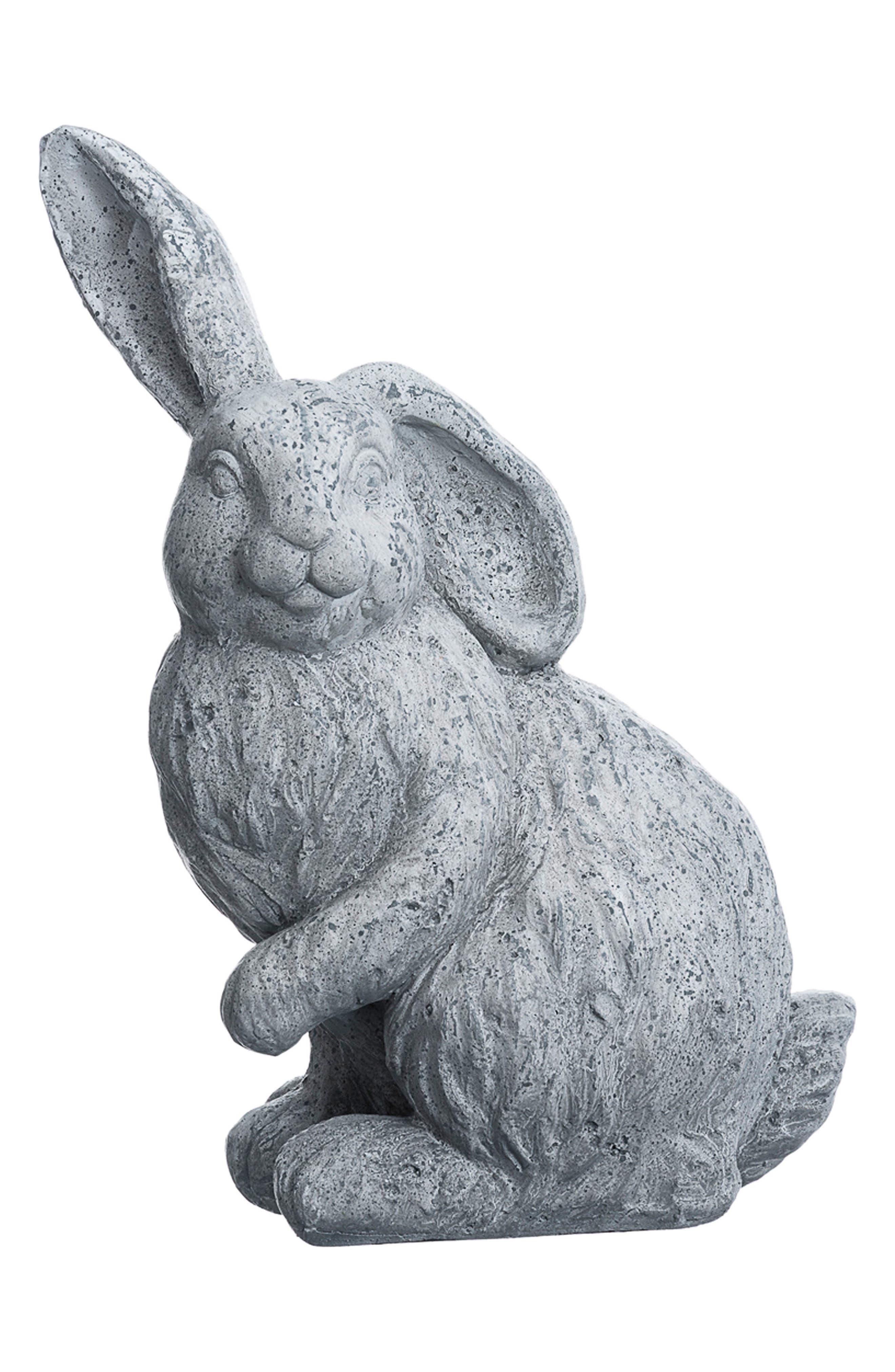 Bunny Statue,                             Main thumbnail 1, color,                             Antique Gray
