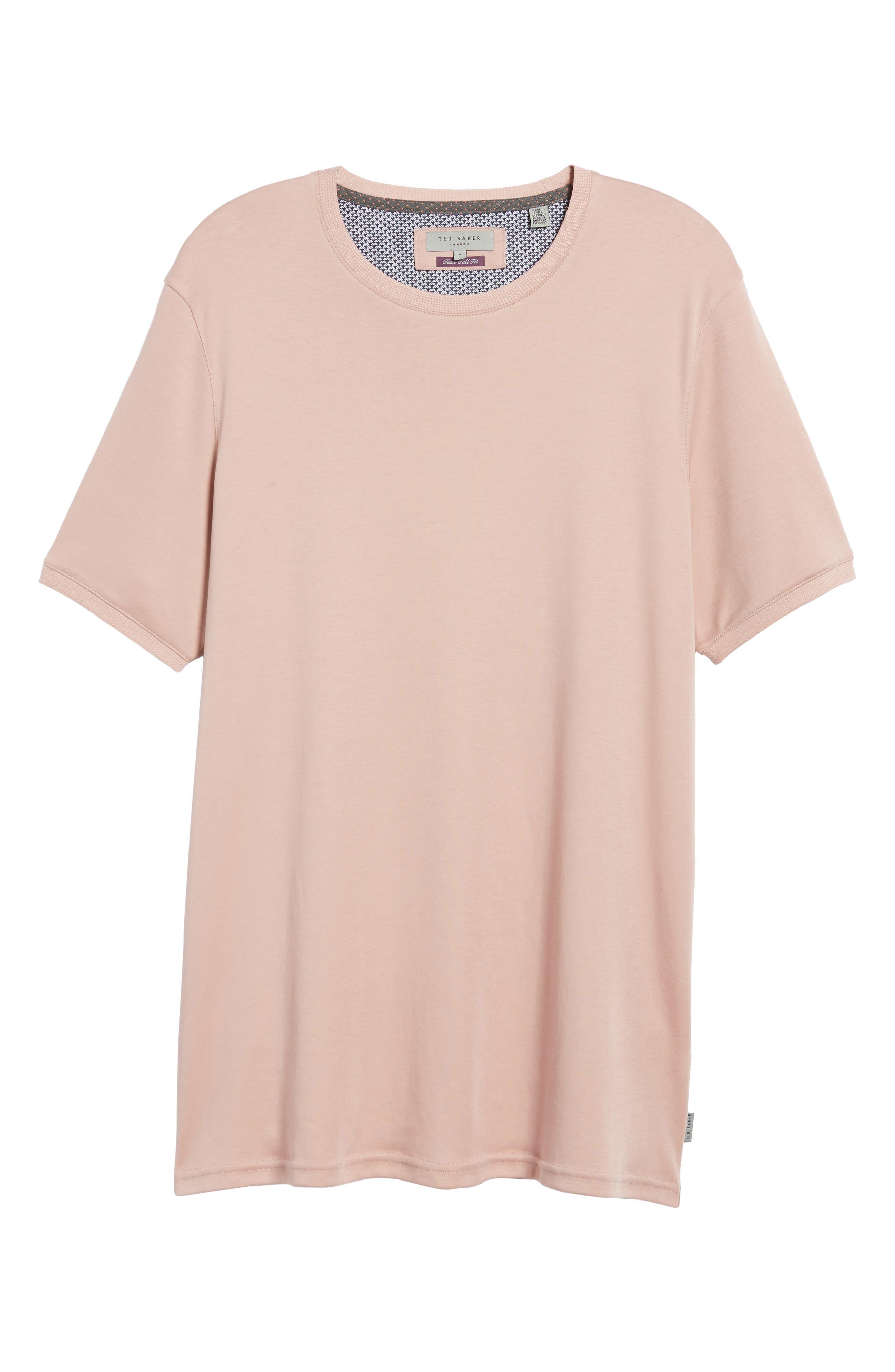 Piktt Crewneck T-Shirt,                             Alternate thumbnail 6, color,                             Dusky Pink