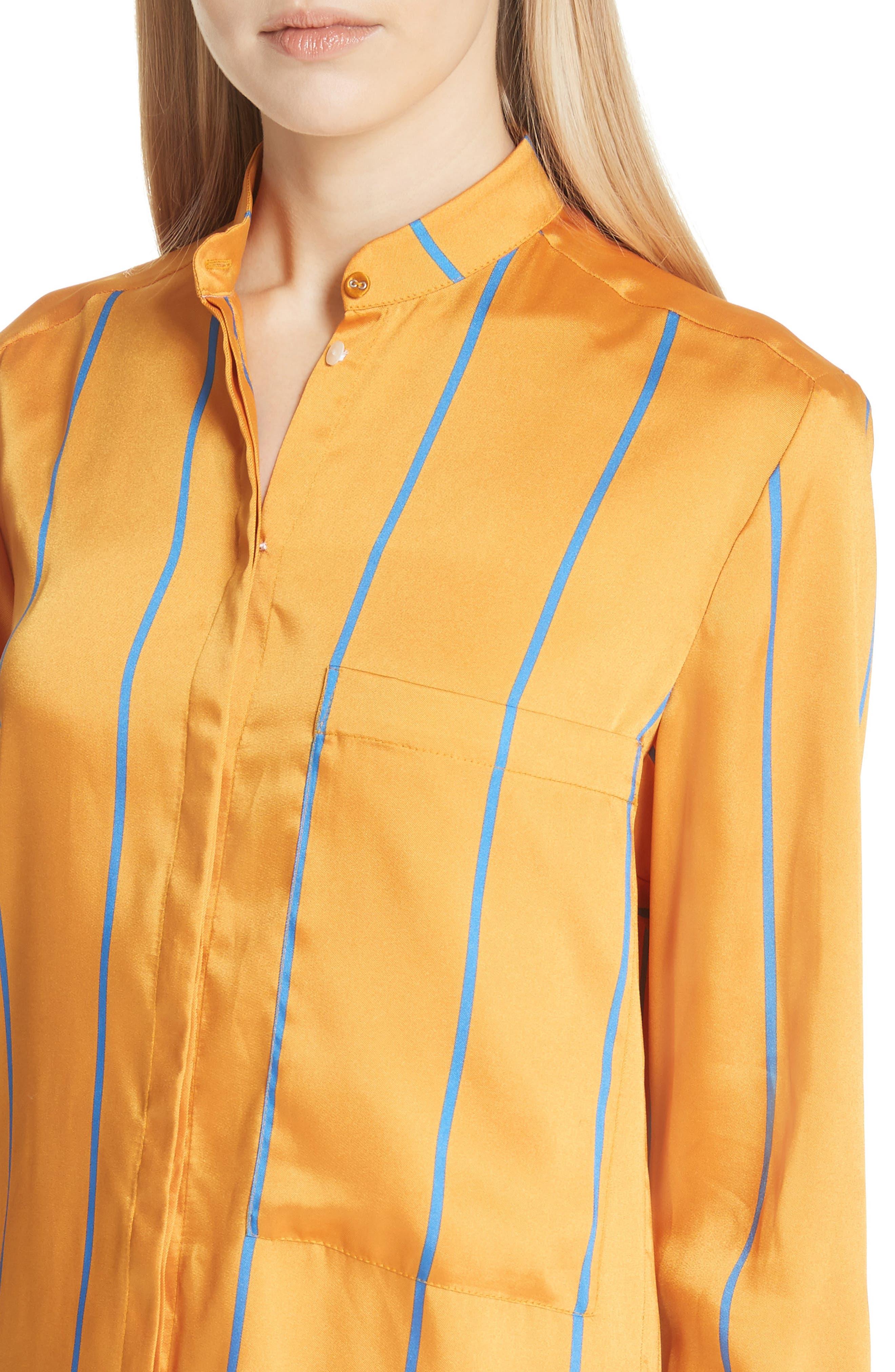 Alternate Image 4  - Victoria, Victoria Beckham Stripe Shirt