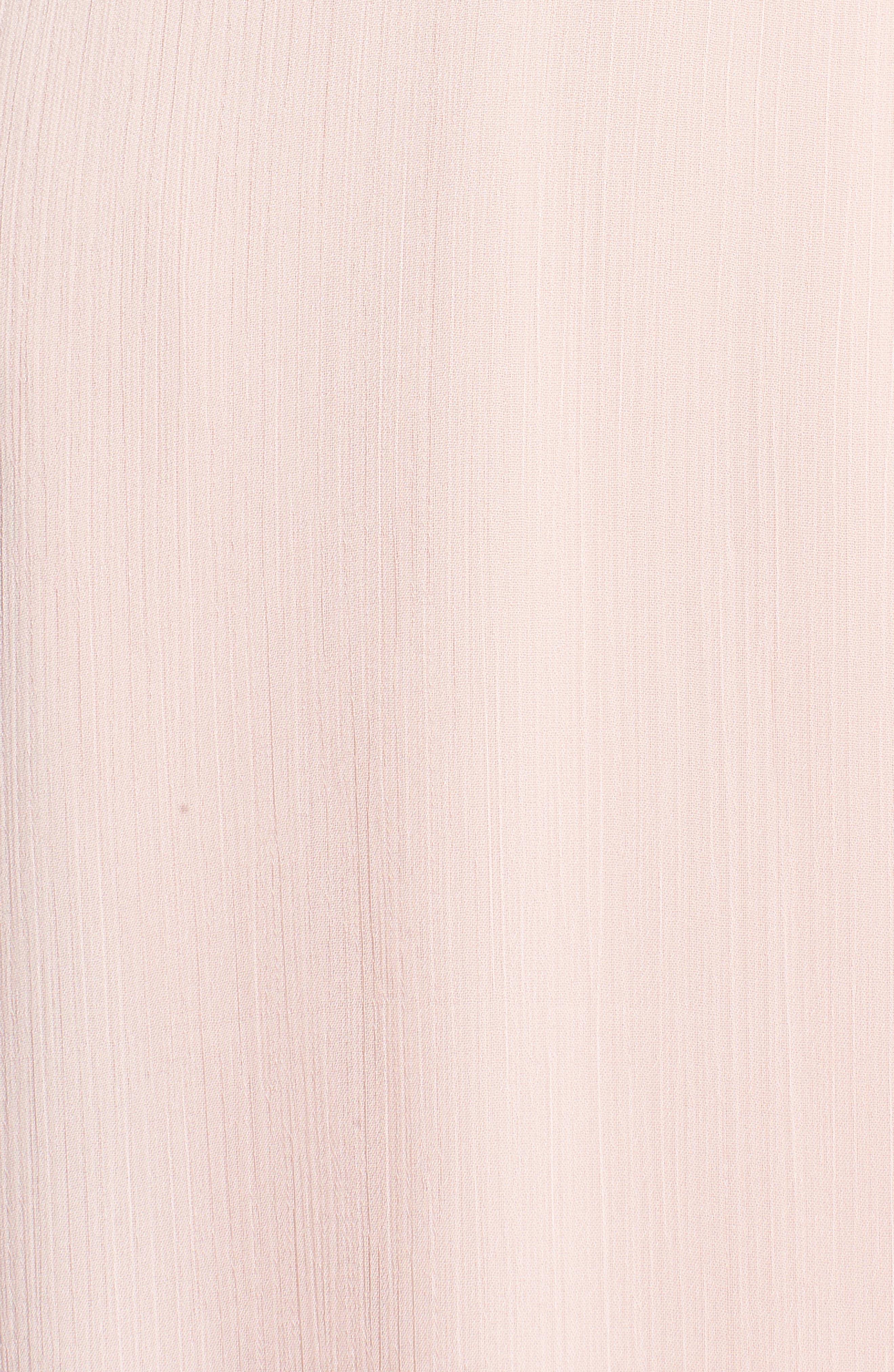 Meryl Long Sleeve Wrap Maxi Dress,                             Alternate thumbnail 5, color,                             Ballet Pink