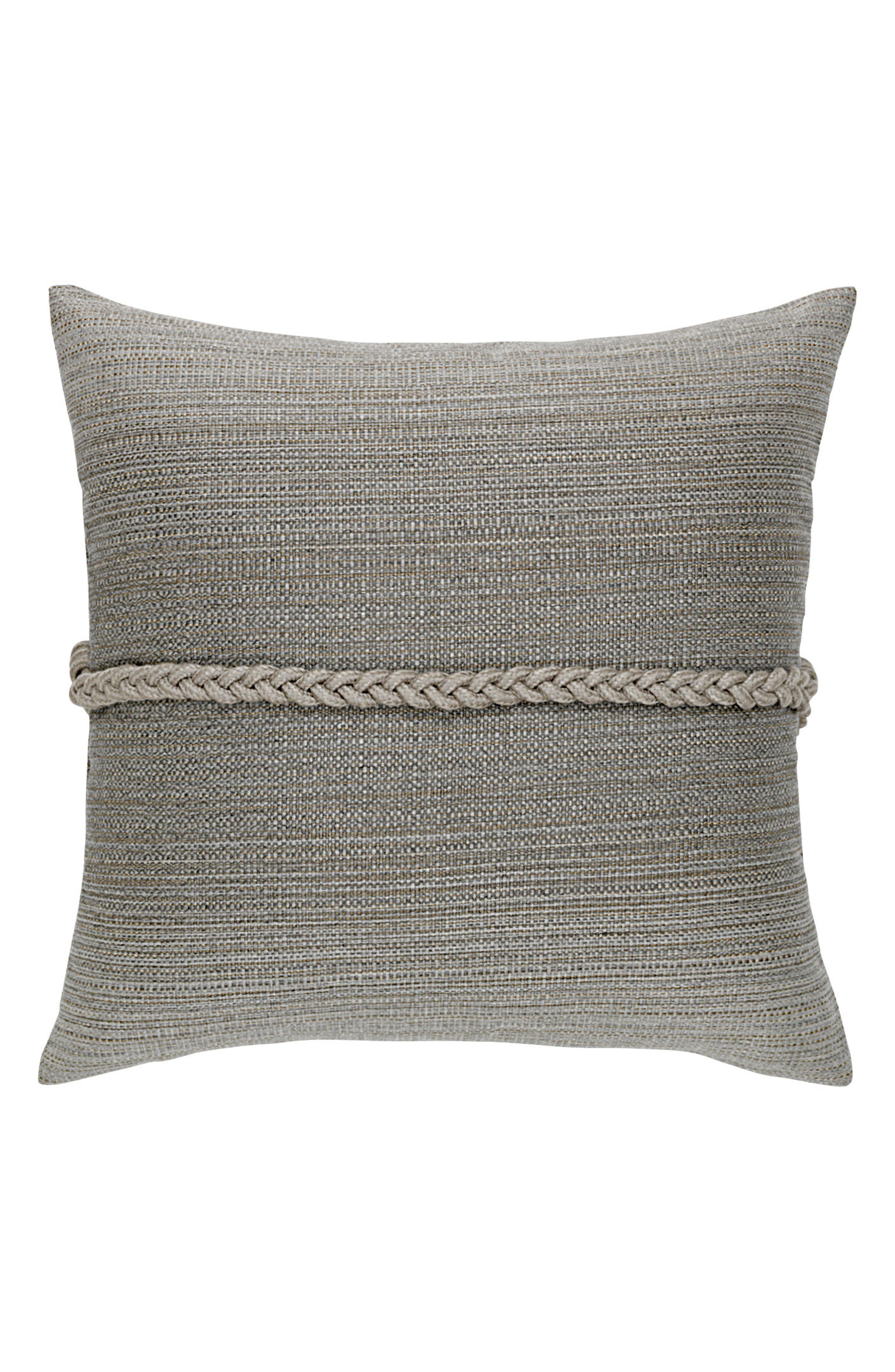 Cadet Frogs Clasp Indoor/Outdoor Accent Pillow,                             Alternate thumbnail 2, color,                             Grey