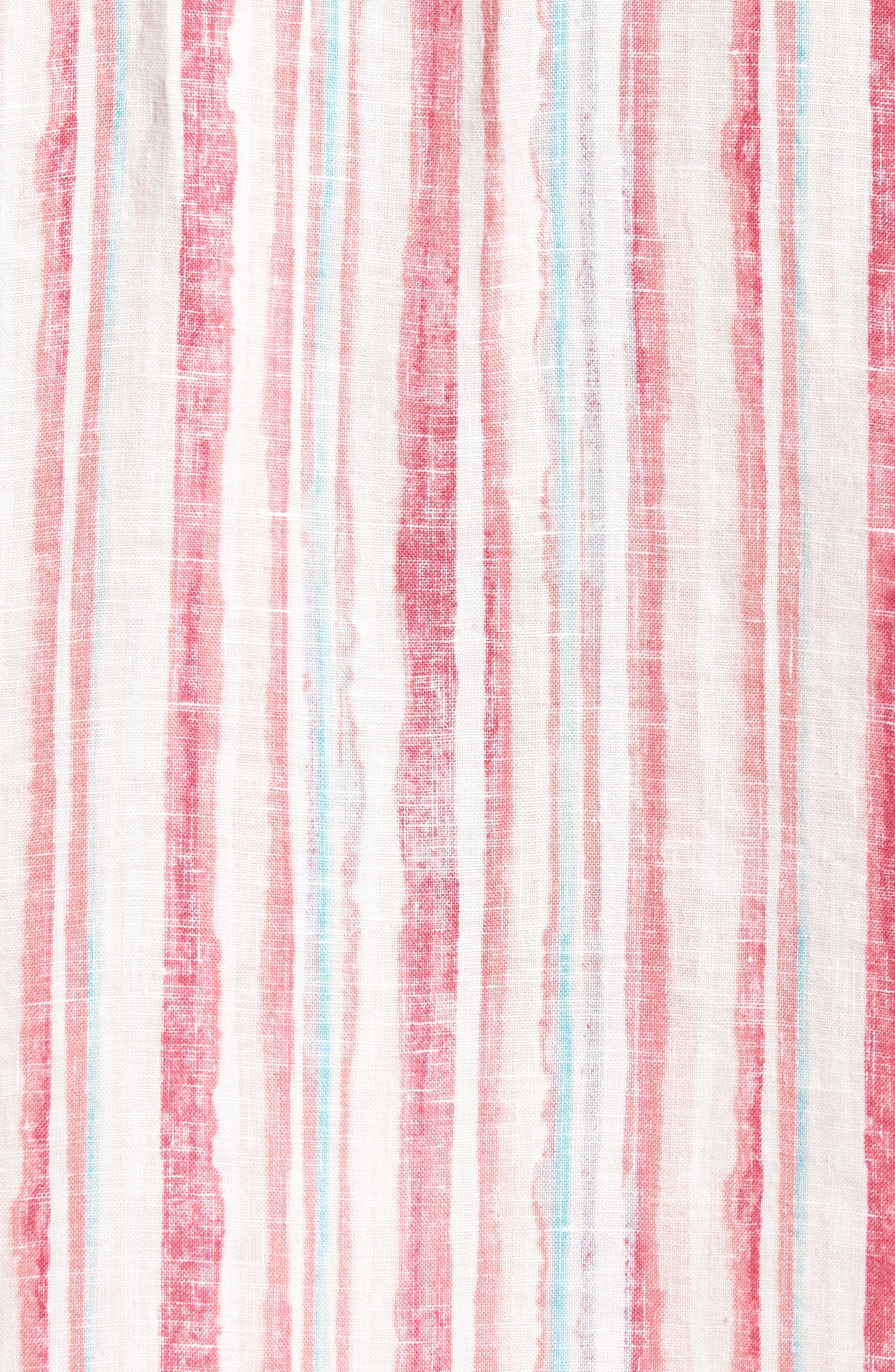 Alternate Image 5  - Tommy Bahama Watercrest Stripe Linen Sport Shirt