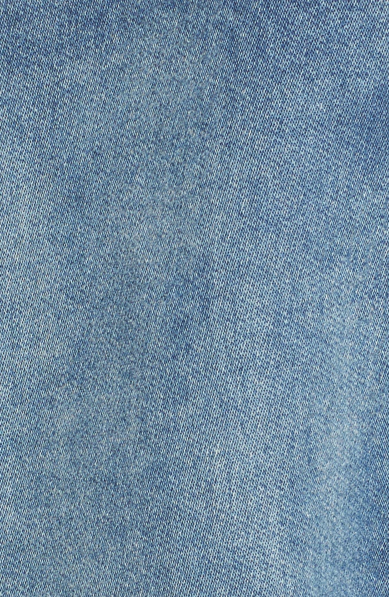 Denim Jacket,                             Alternate thumbnail 5, color,                             Washed Blue