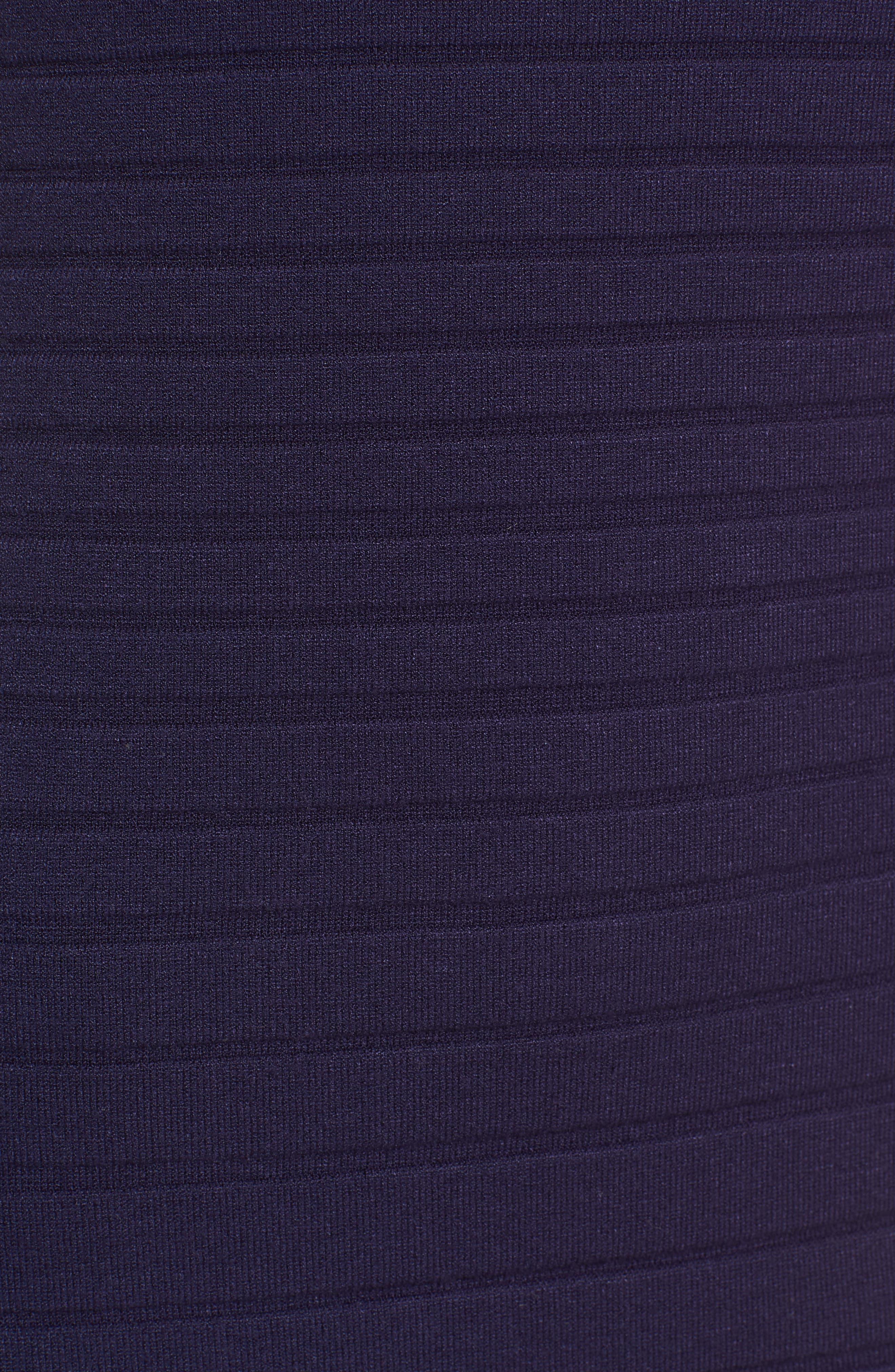 Textured Stripe Knit Dress,                             Alternate thumbnail 5, color,                             Monaco