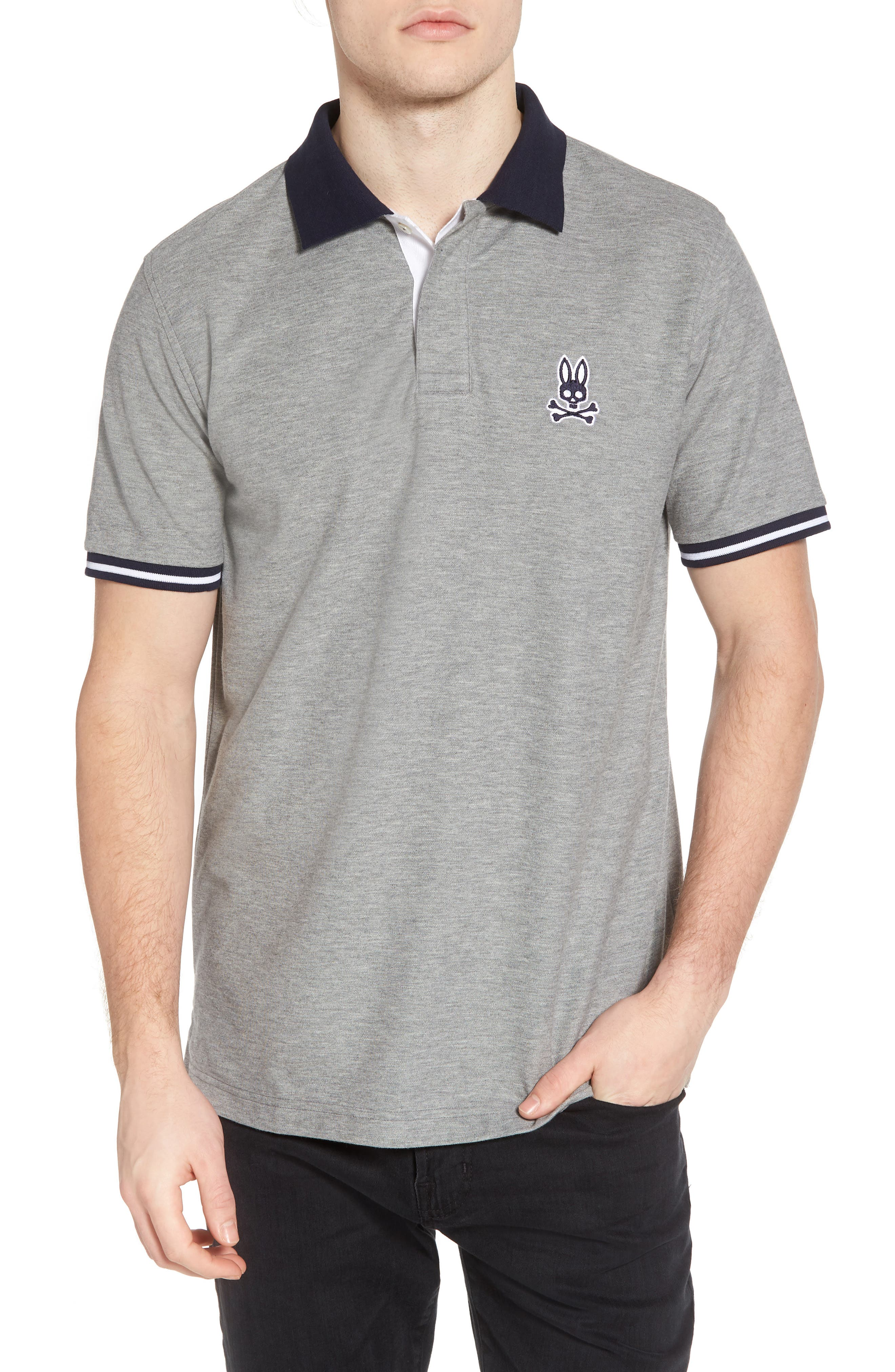 St. Ives Polo,                         Main,                         color, Heather Grey